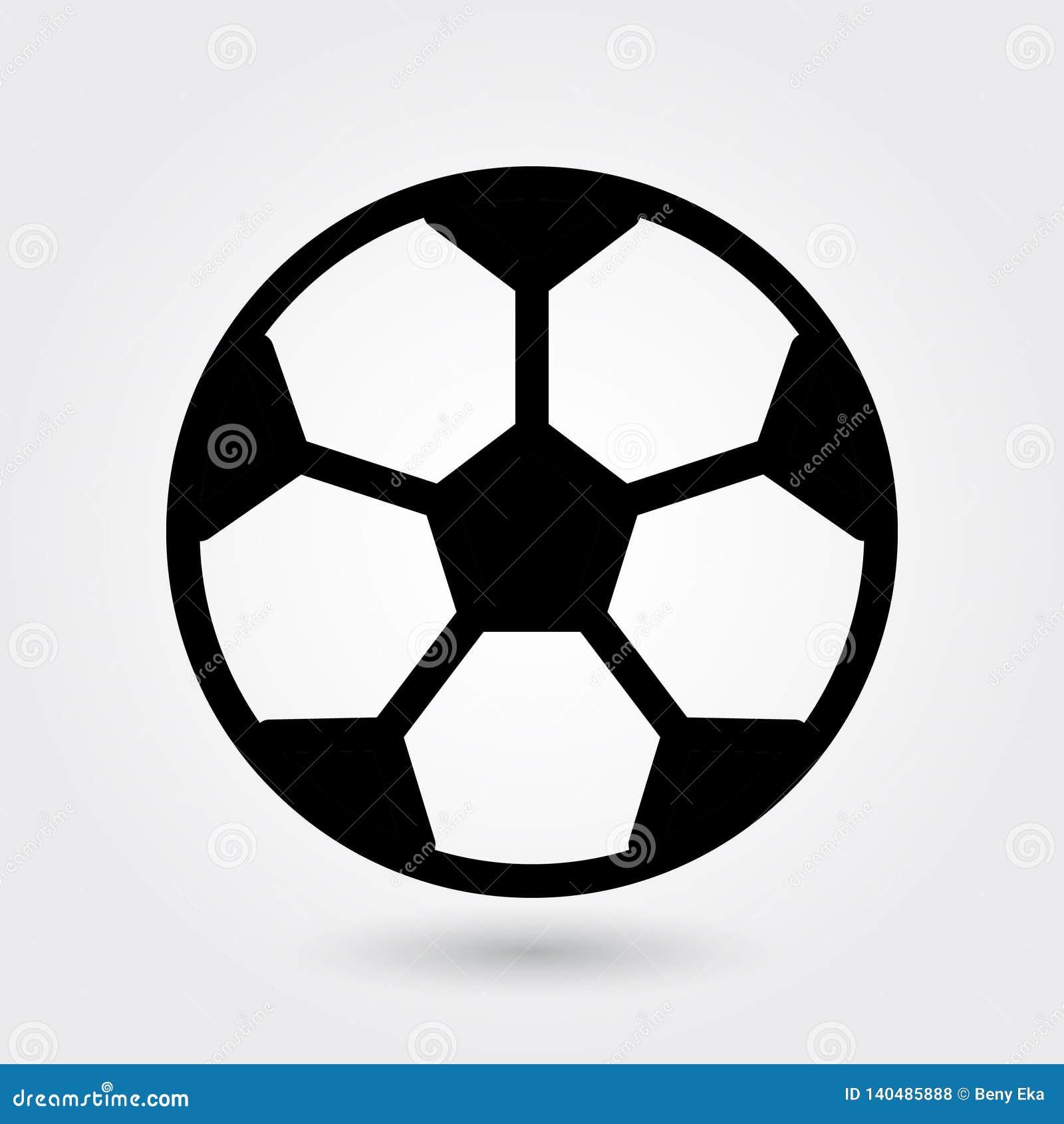 Fußballvektorikone, Fußballikone, Sportballsymbol Moderner, einfacher Glyph, feste Vektorillustration