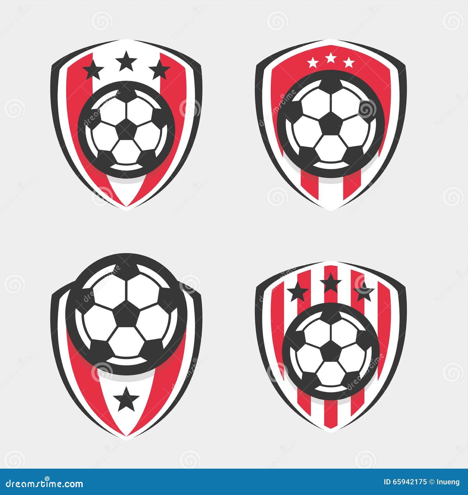 Fuu00dfball-Logo oder Fuu00dfball-Verein-Zeichen-Ausweis-Satz Auch im corel ...
