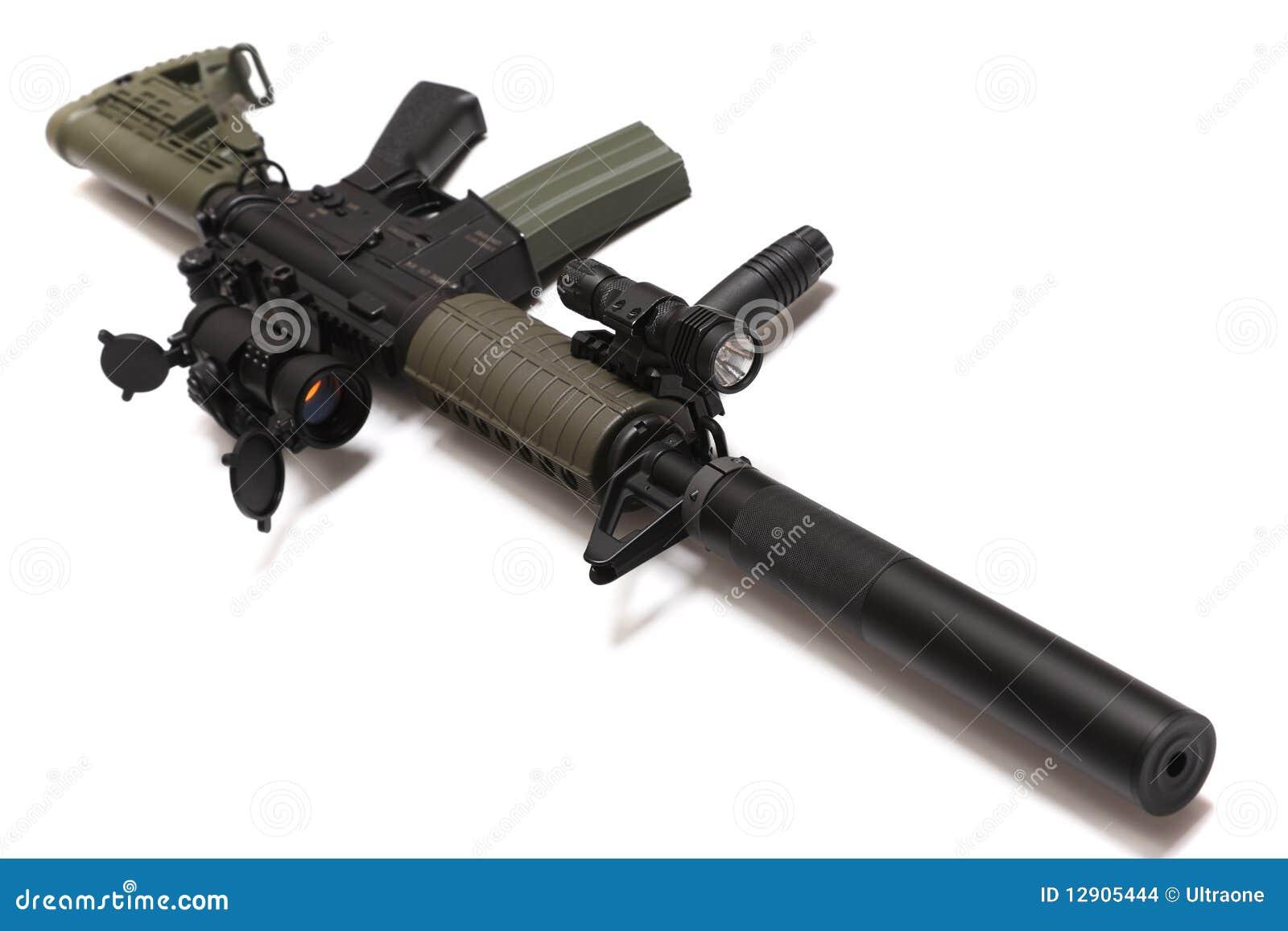 Fucile di assalto di abitudine di spec. Ops M4A1 degli Stati Uniti.