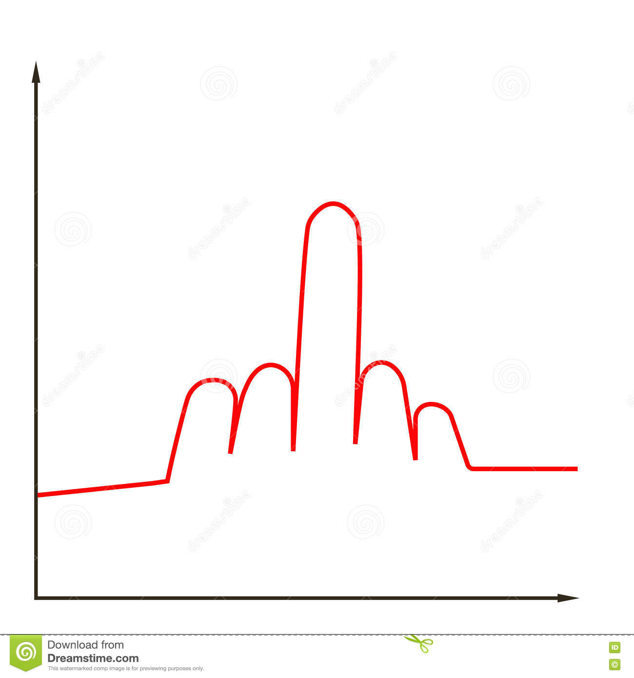 Chart line graph stock vector illustration of financial 75444735 chart line graph ccuart Image collections