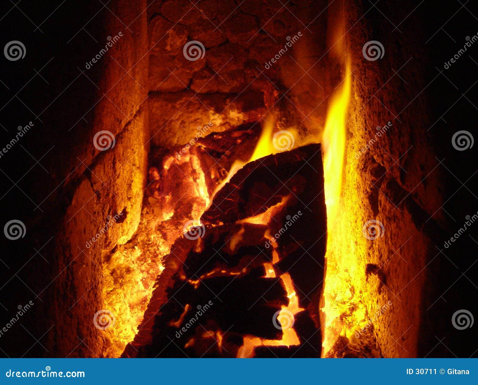 Download Fuego de la estufa imagen de archivo. Imagen de carbonize - 30711