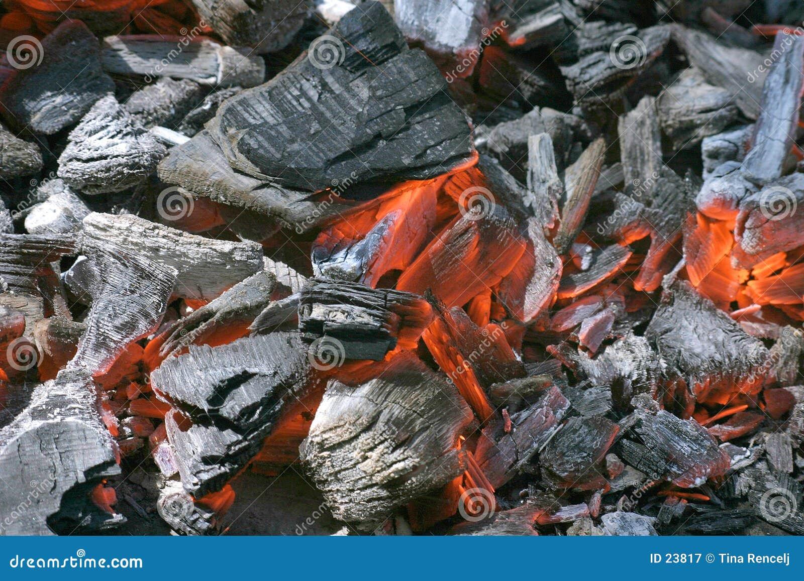 Fuego de la fragua de las ascuas