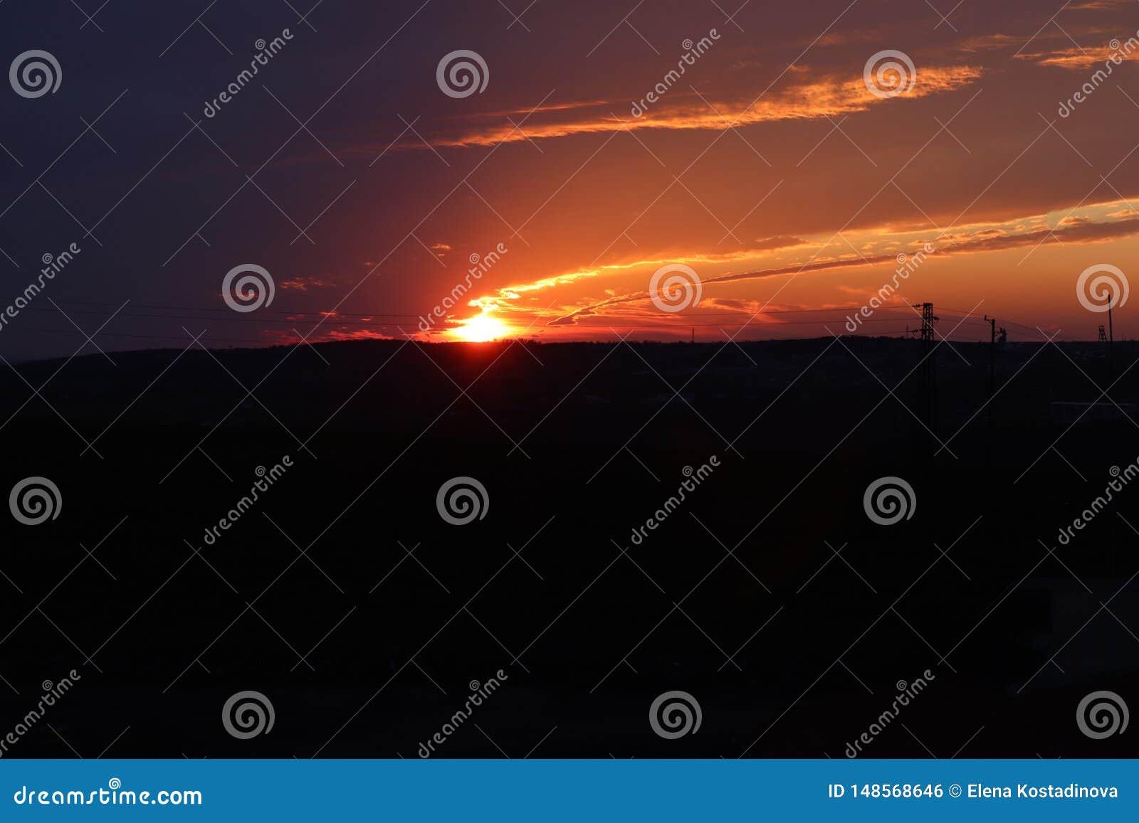 Fuego de la presa del sol