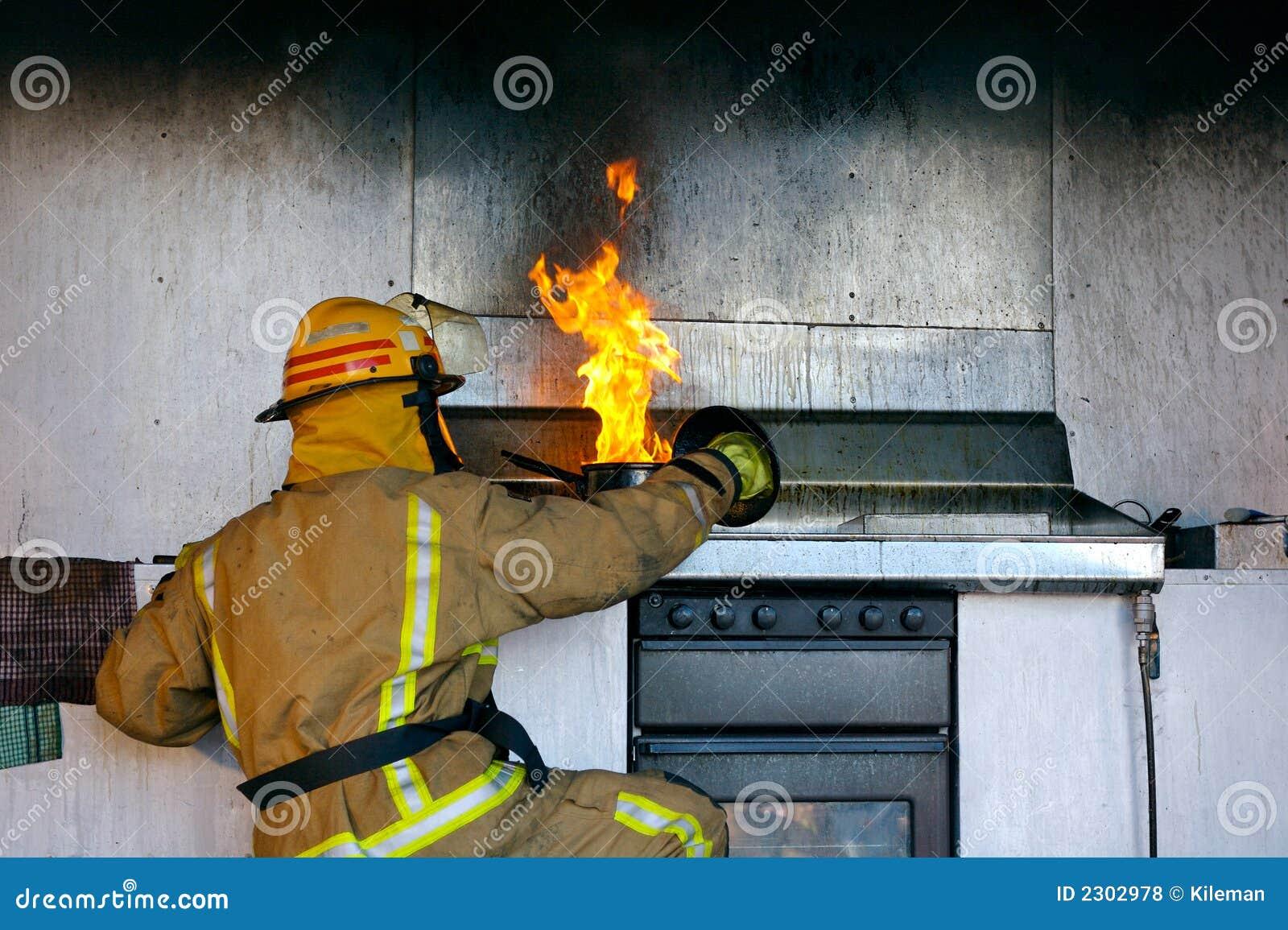 Fuego del aceite de cocina fotos de archivo libres de regal as imagen 2302978 - Cocina de fuego ...