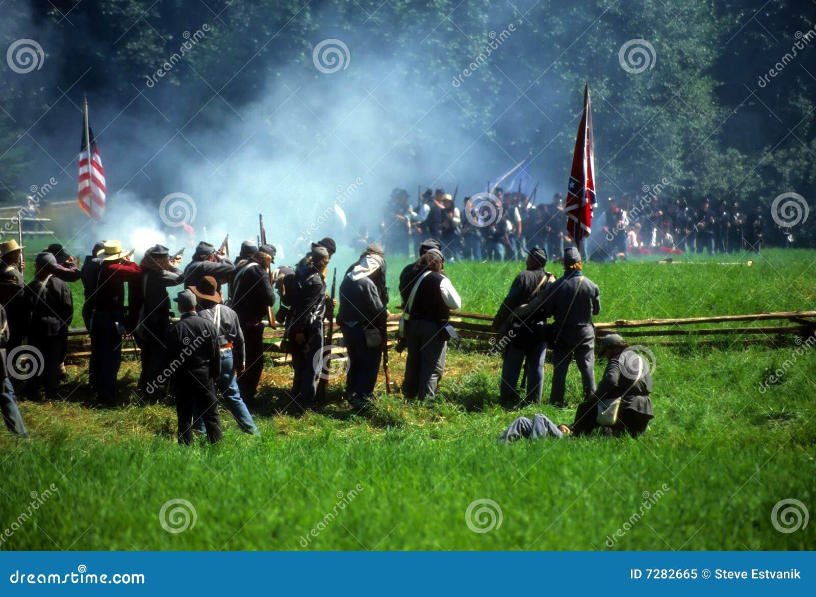 Fuego del voleo de los confederatos