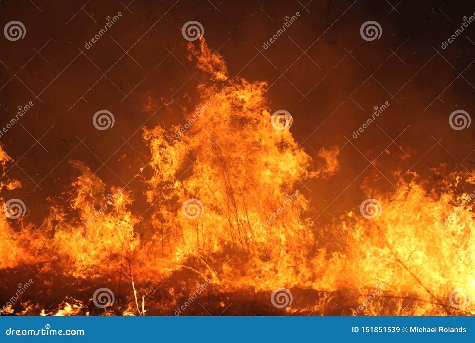 Fuego manejado de la pradera