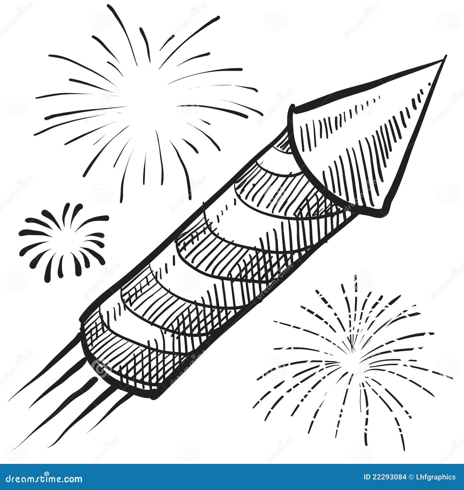 Fuegos Artificiales 4tos De La Ilustración De Julio Ilustración del ...