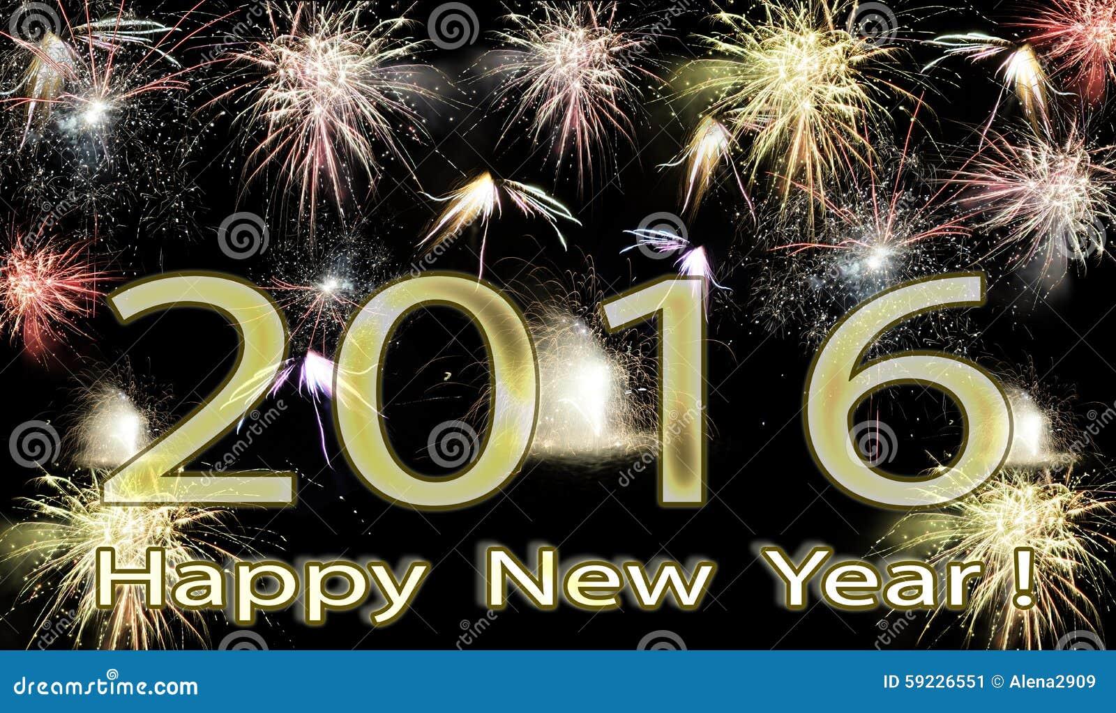 Download Fuegos Artificiales De La Feliz Año Nuevo 2016 Imagen de archivo - Imagen de ordenador, disco: 59226551