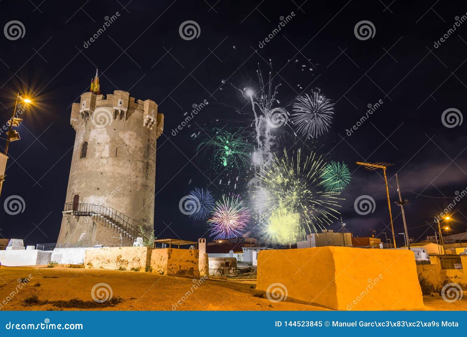 Fuegos artificiales en Paterna