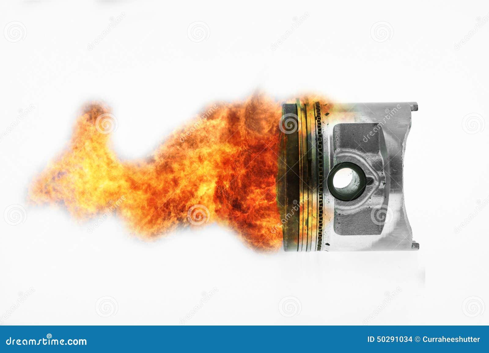 Fuel Burning On Top Of Engine Piston Burning Fire Flame On Engine Piston Stock Photo Image