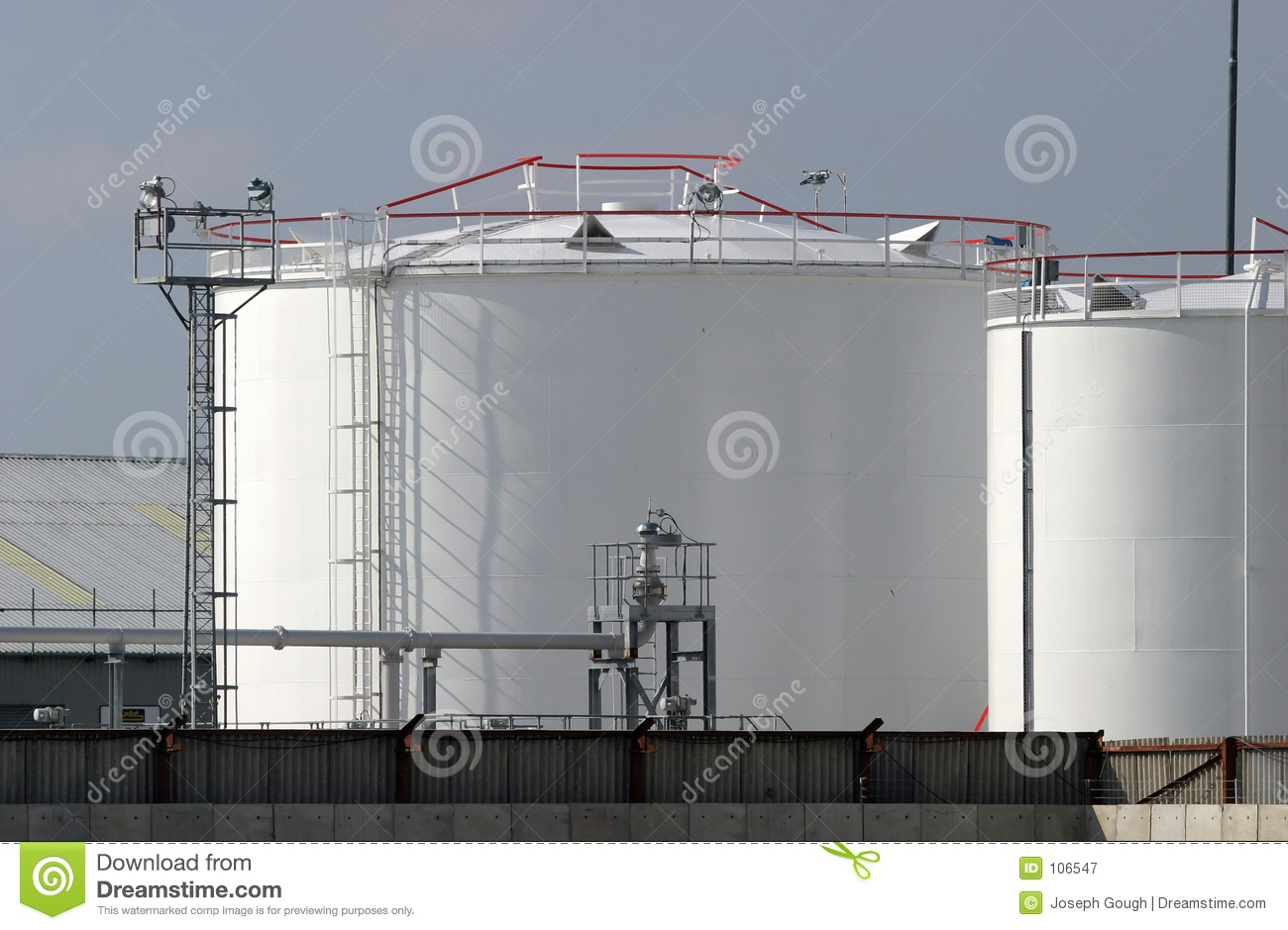 Fuel Depot stock image Image of gray loading container 106547
