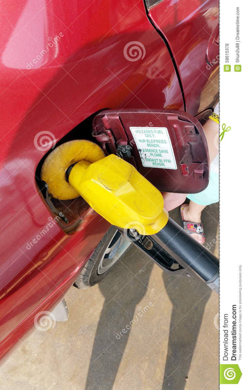 Fuel Filling At Gas Station Stock Photo Image Of Diesel
