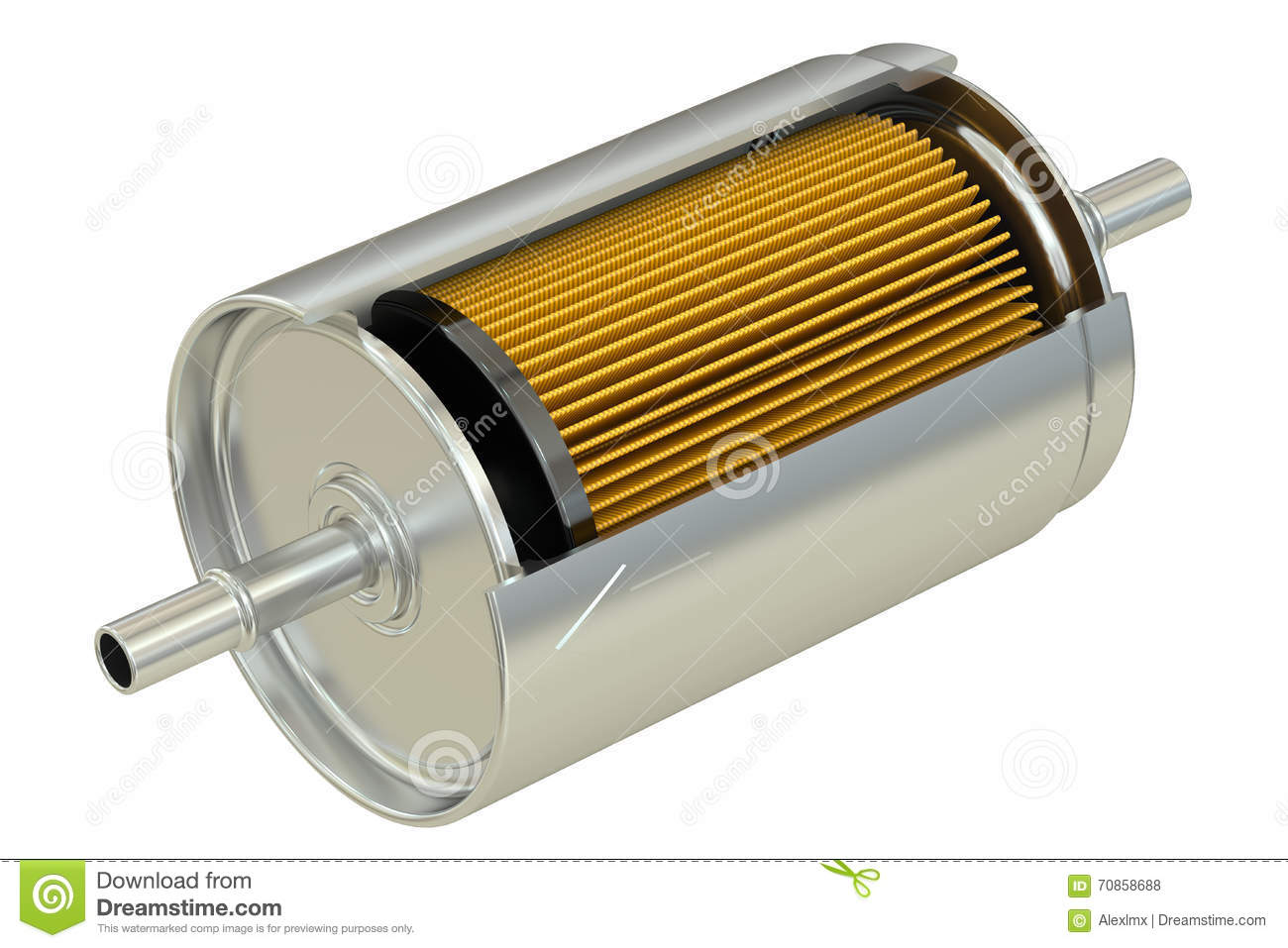 Fuel Filter Cutaway Stock Illustration Of White 70858688 Dirty On Truck