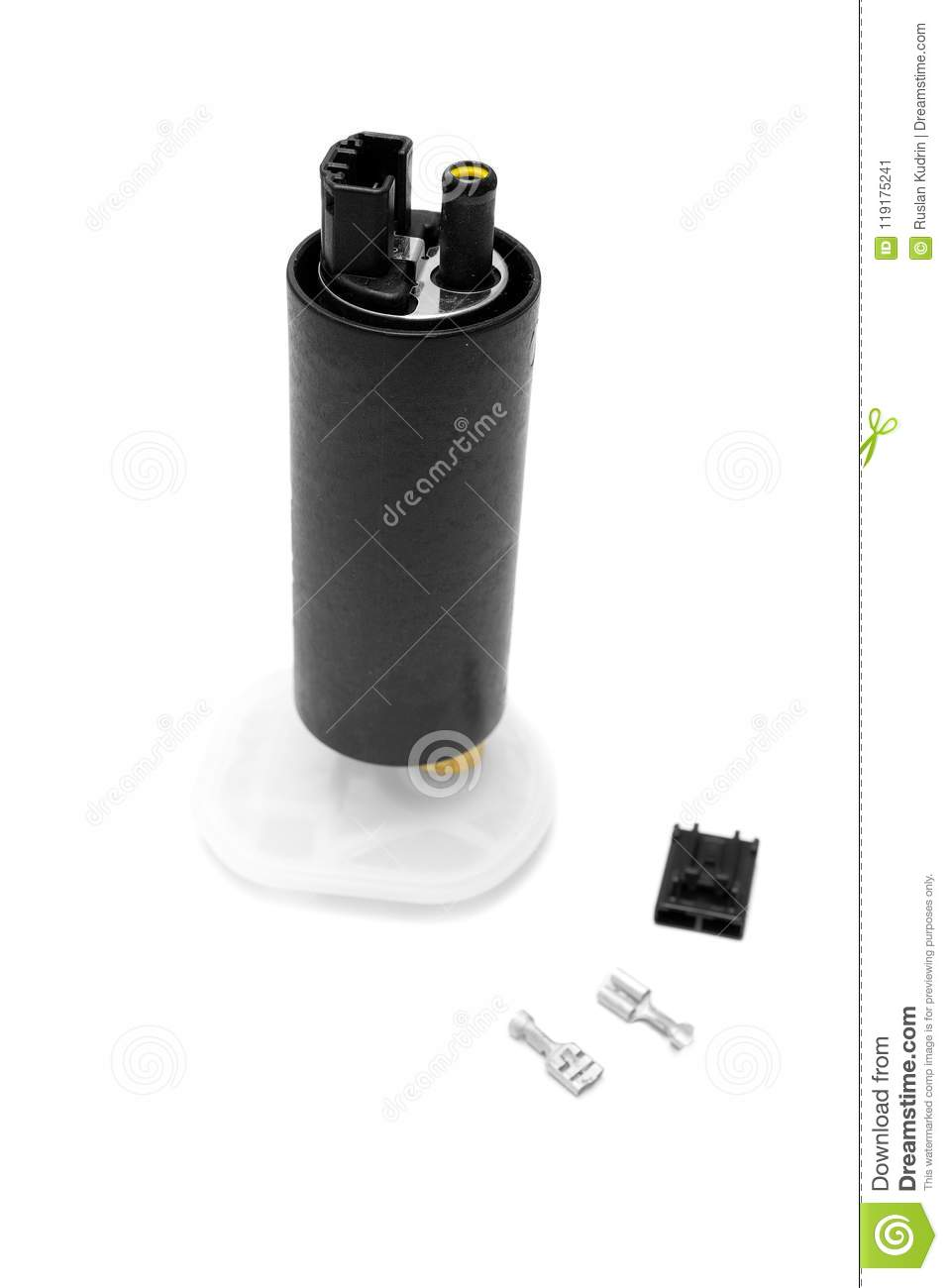 Fuel filter and pump. Isolate