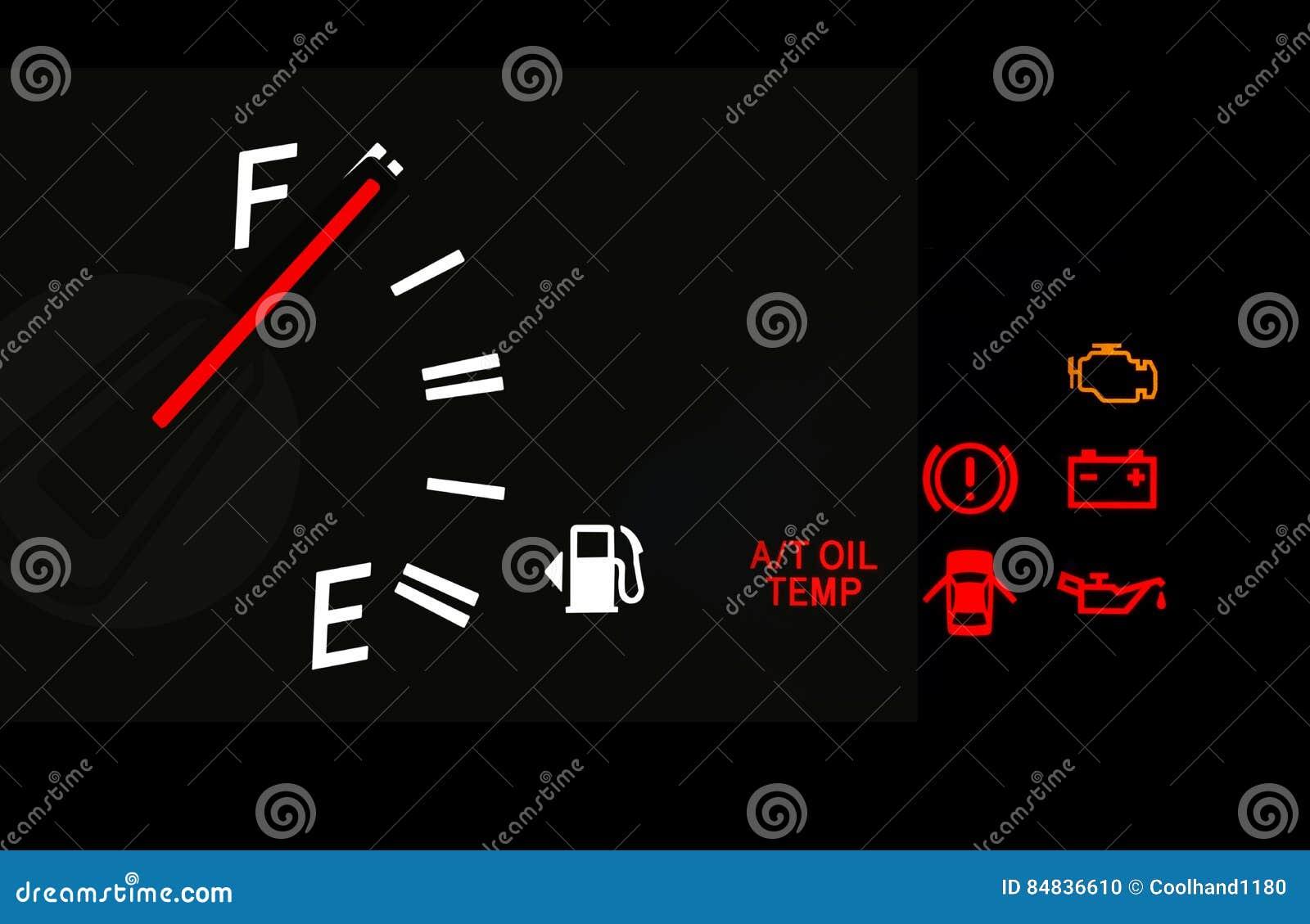 Fuel Gauge And Car Dashboard Signs Stock Photo Image Of Design - Car image sign of dashboarddashboard warning lights stock images royaltyfree images