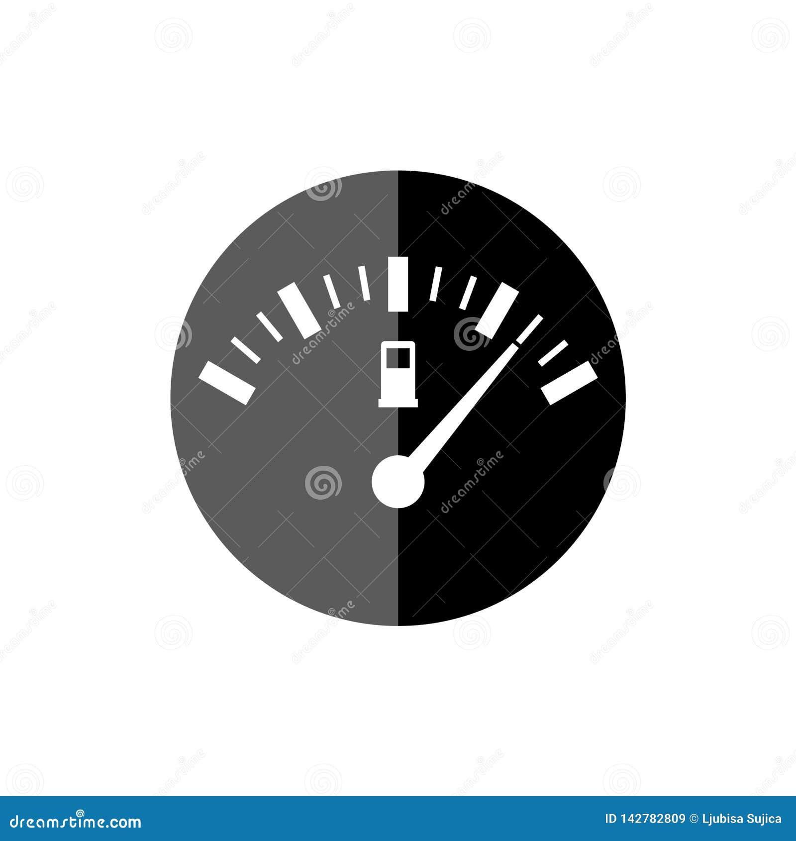 Fuel Gauge Icon, Full Gas Tank Stock Illustration - Illustration of