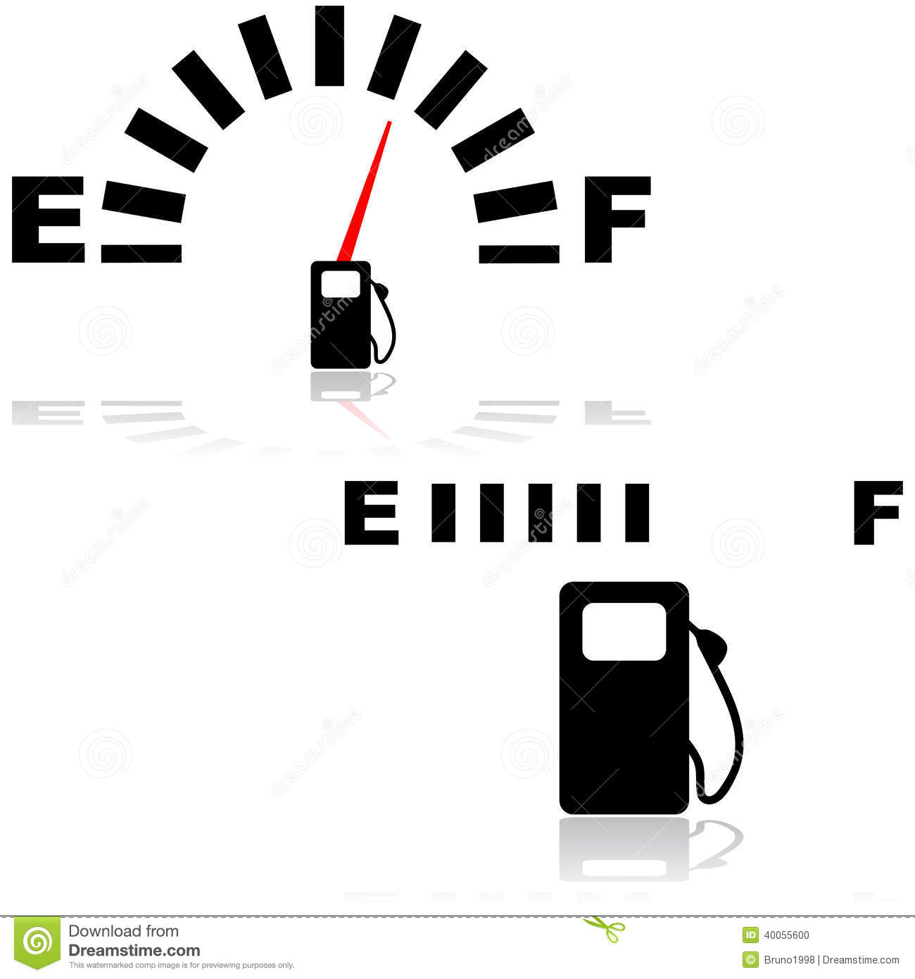 Gas gauge icon