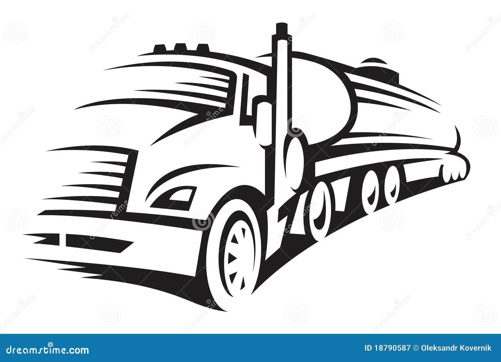 fuel truck stock vector  illustration of cistern  semi