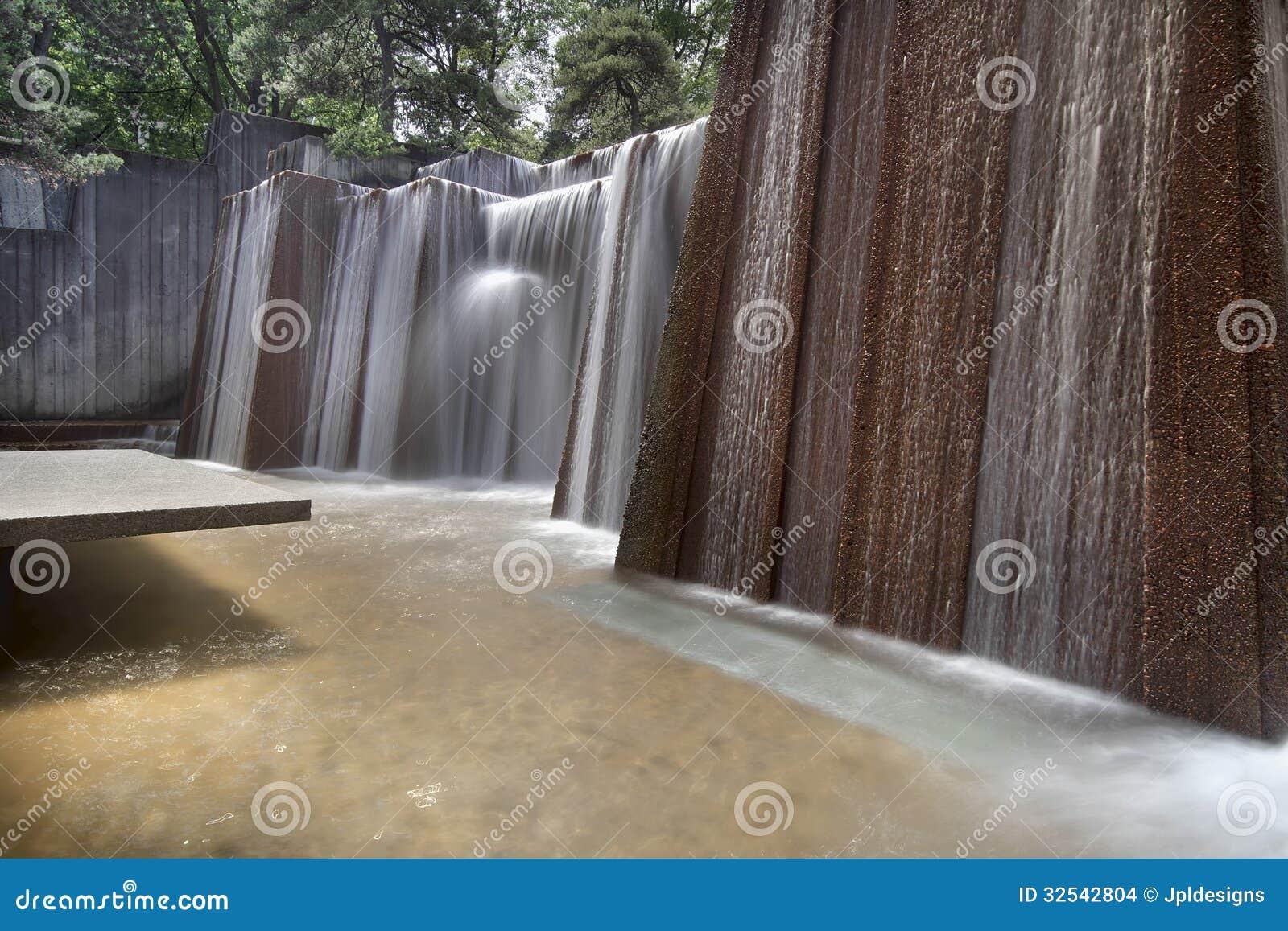 Fuente de agua de los parques públicos