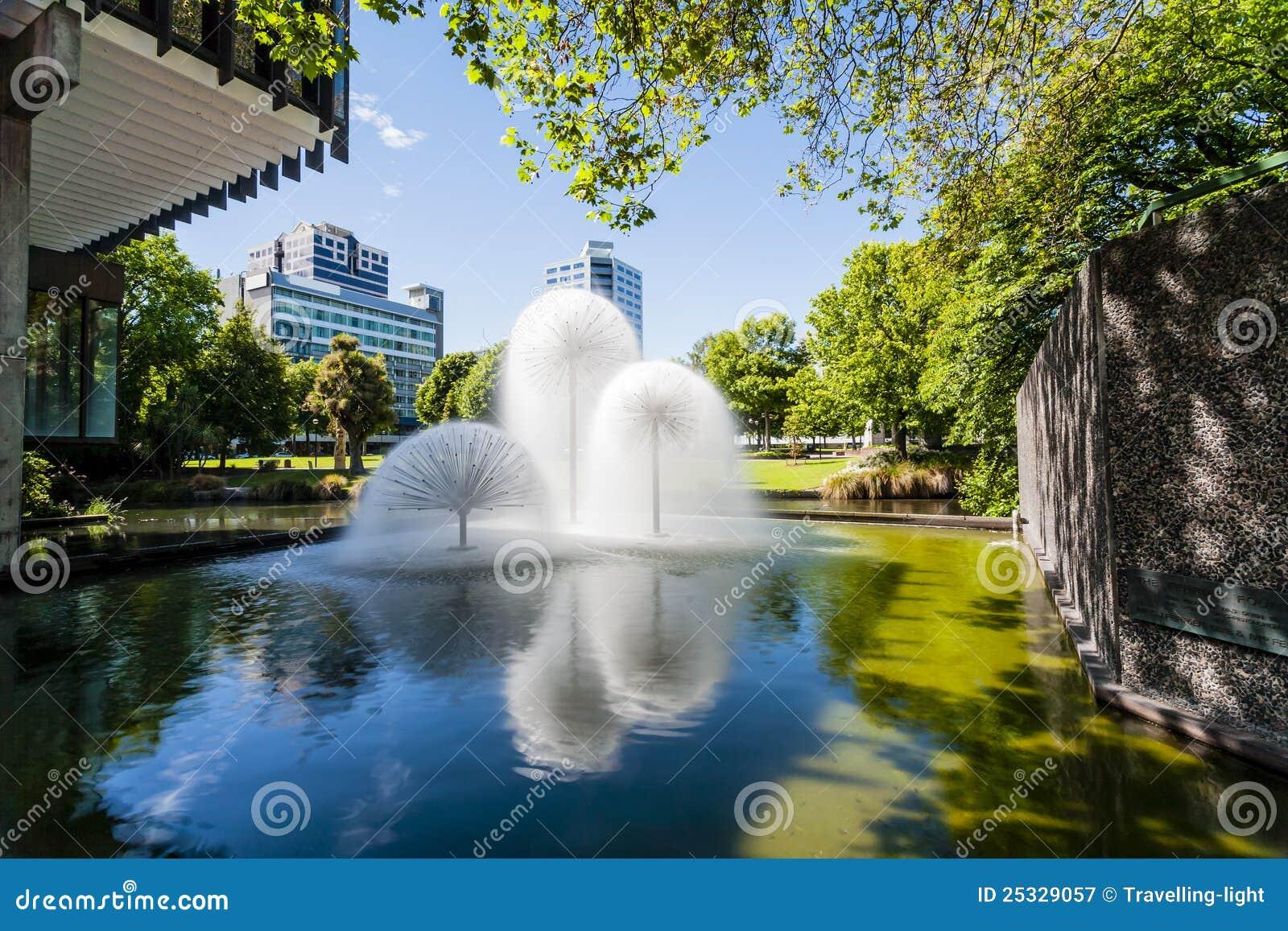 Fuente de Christchurch Nueva Zelandia Ferrier