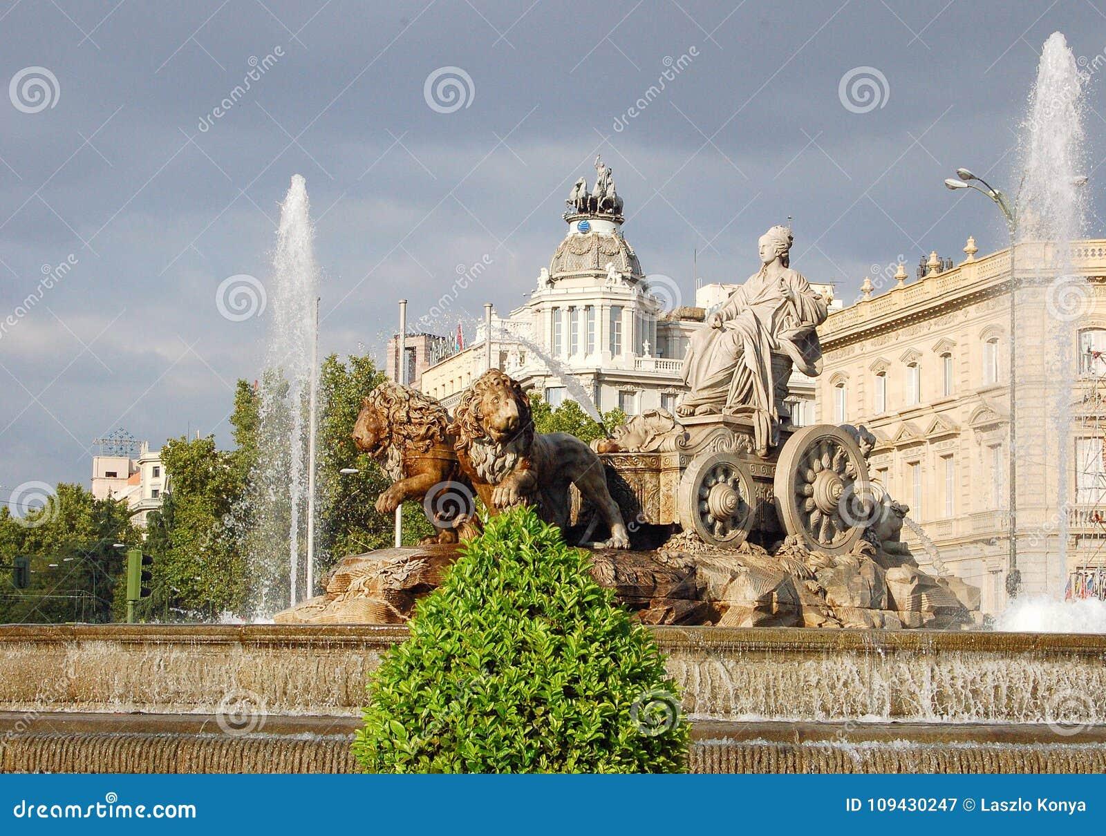 Fuente De Cibeles Madrid Fotografía Editorial Imagen De