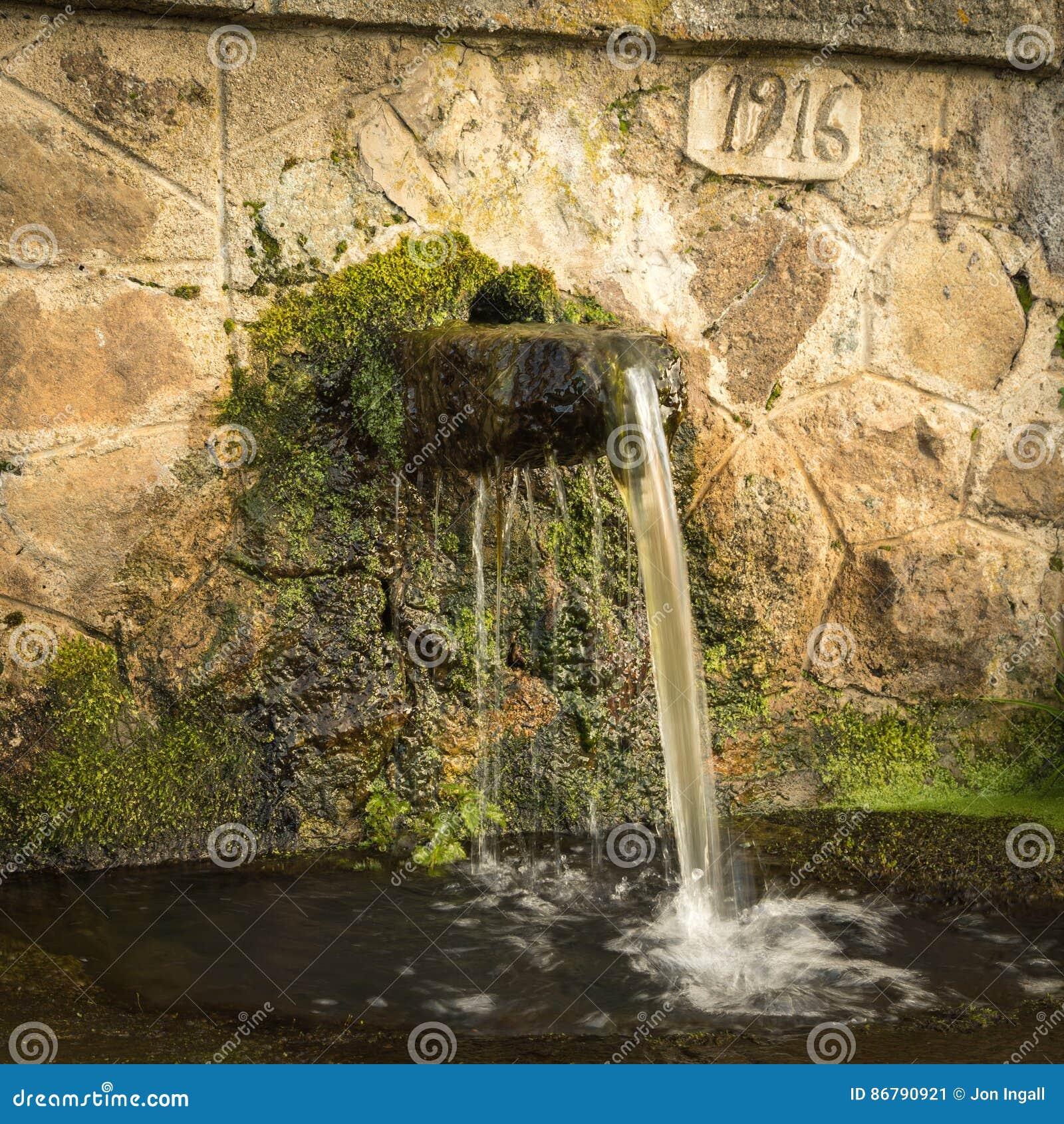 agua fuente obturador piedra