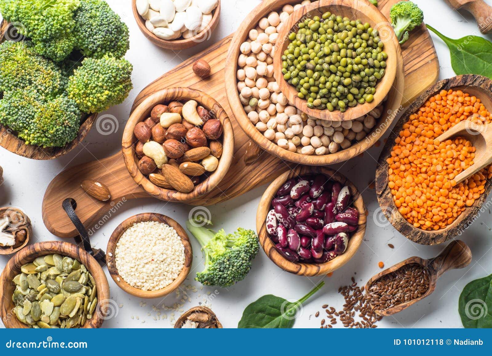 Fuente de la proteína del vegano