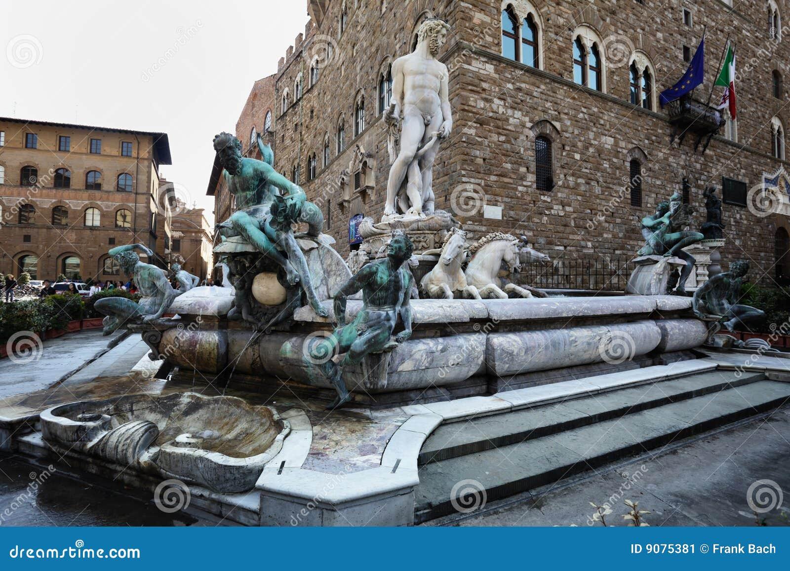 Fuente De Neptuno Florencia Italia Imagen De Archivo Imagen De