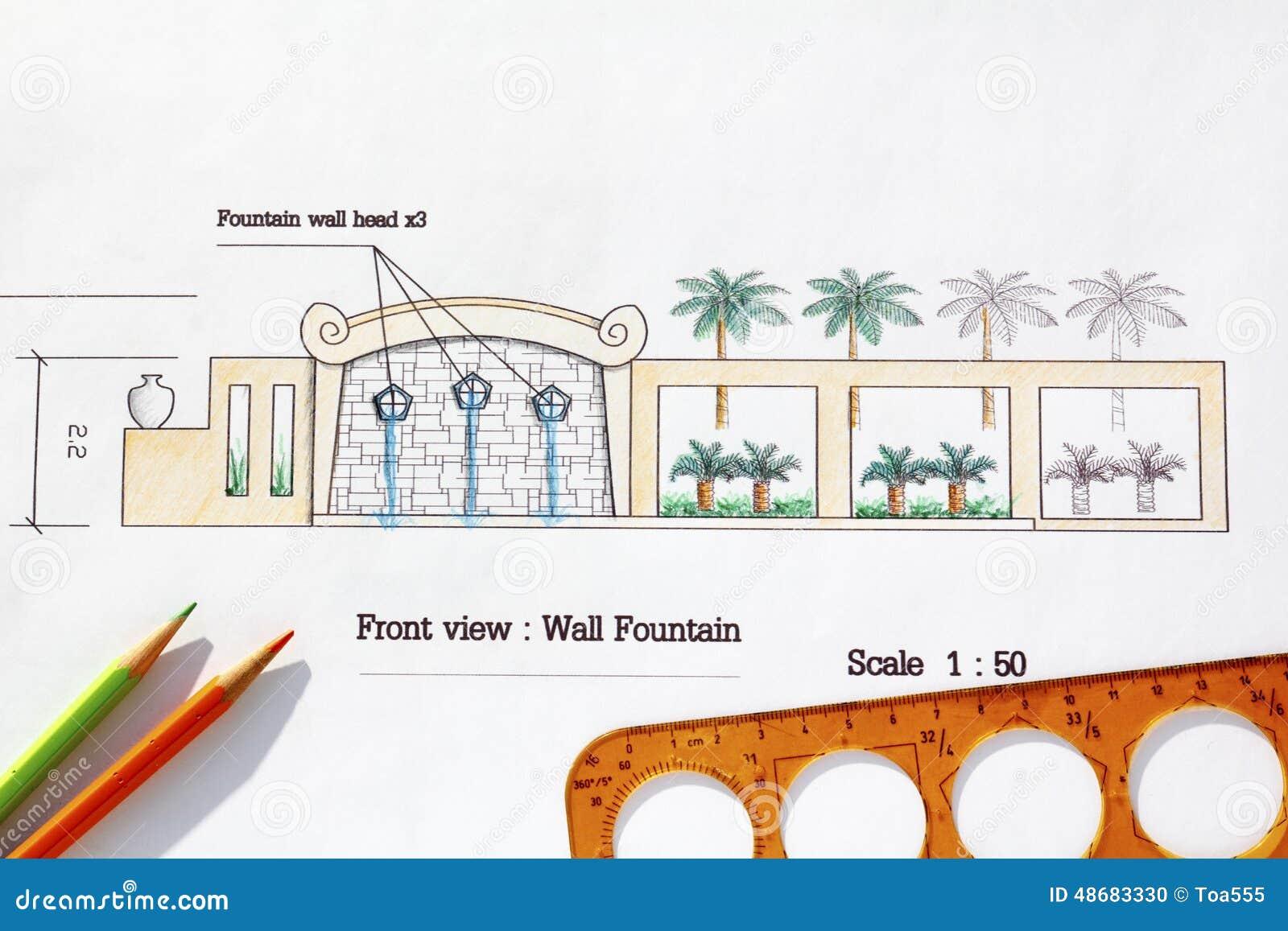 Fuente de pared moderna del dise o del arquitecto - Fuente de pared ...