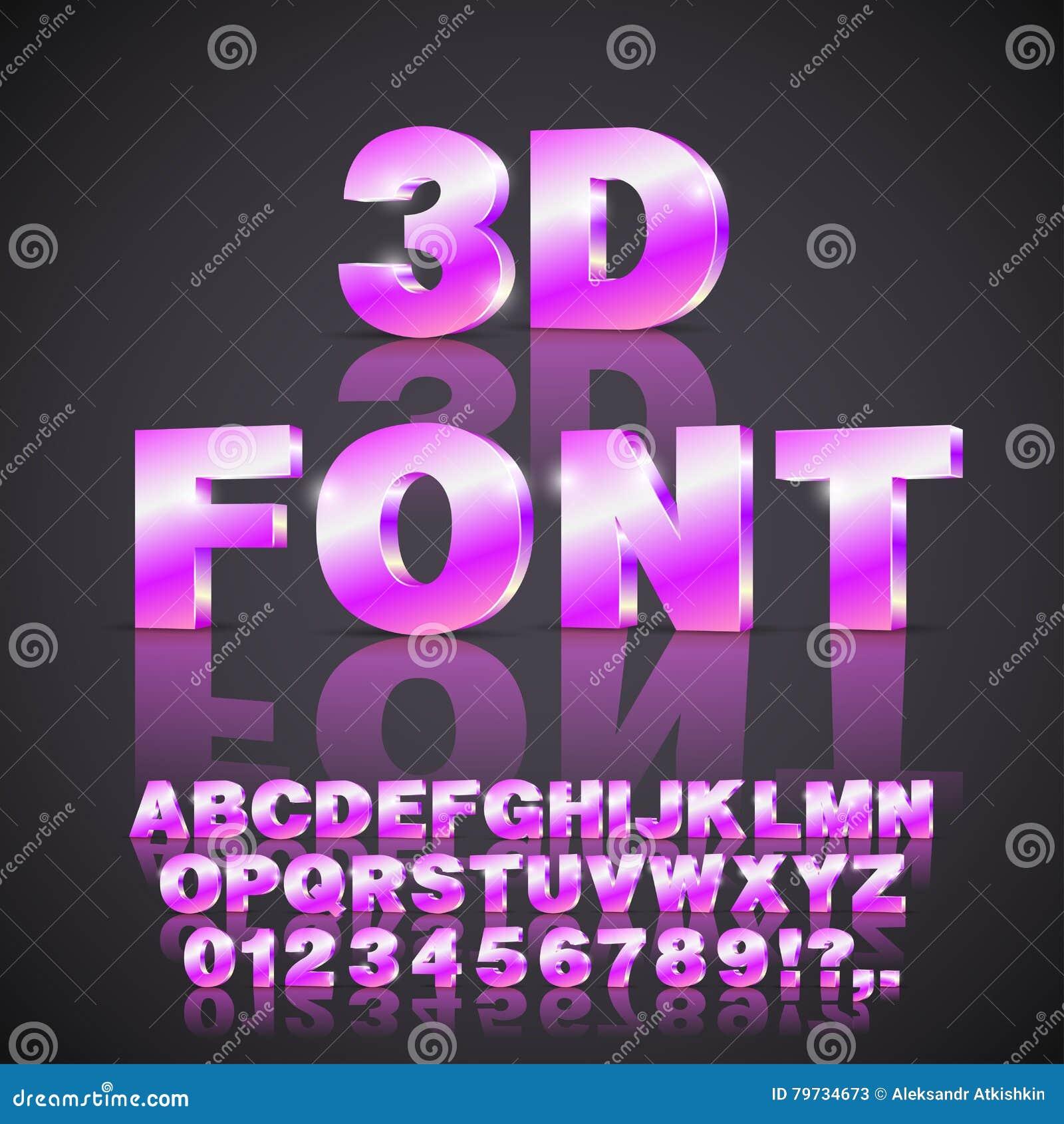 Fuente de vector del alfabeto