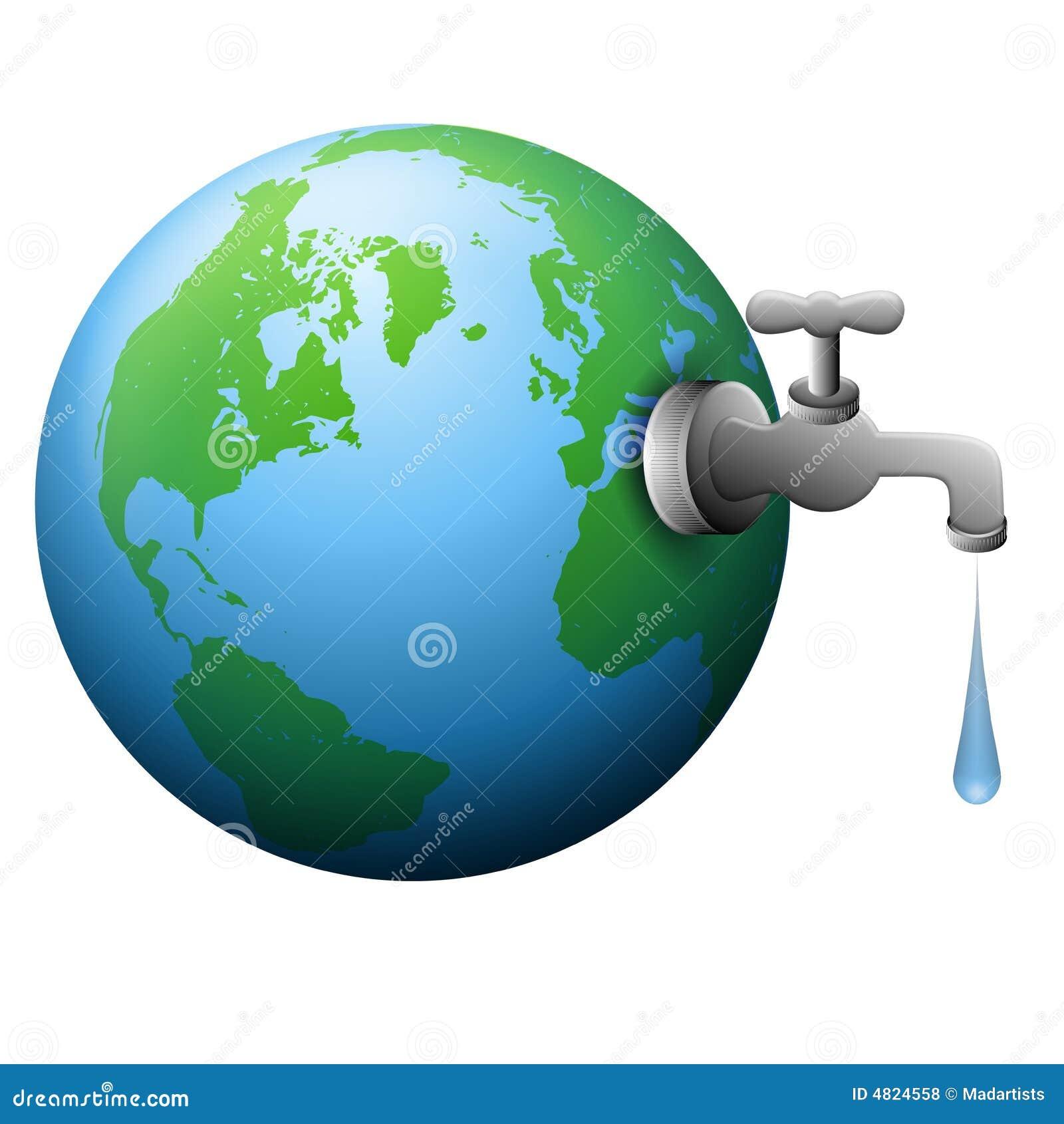Fuente del golpecito de agua de la tierra