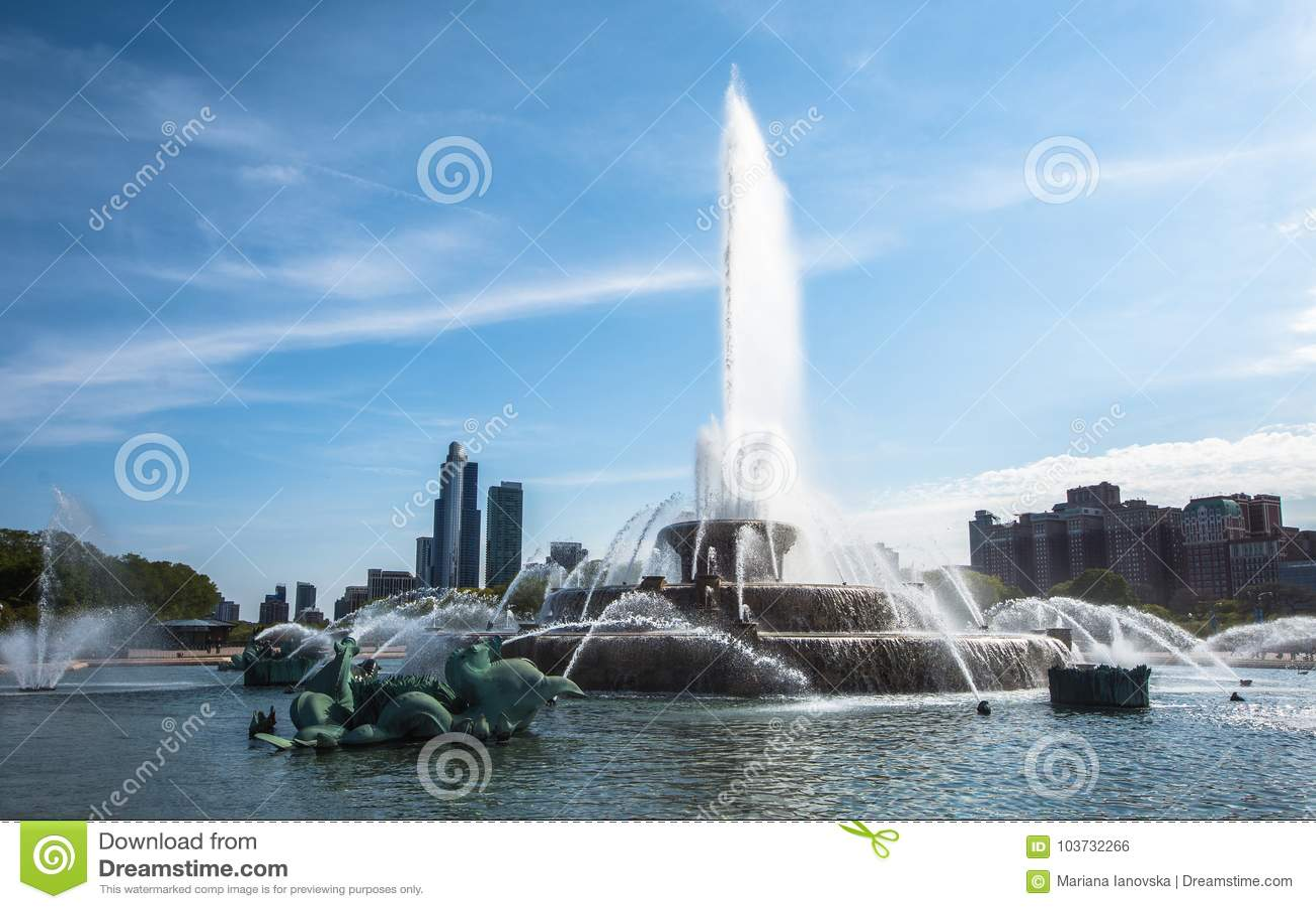 Fuente del ` s Buckingham de Chicago, parque del milenio