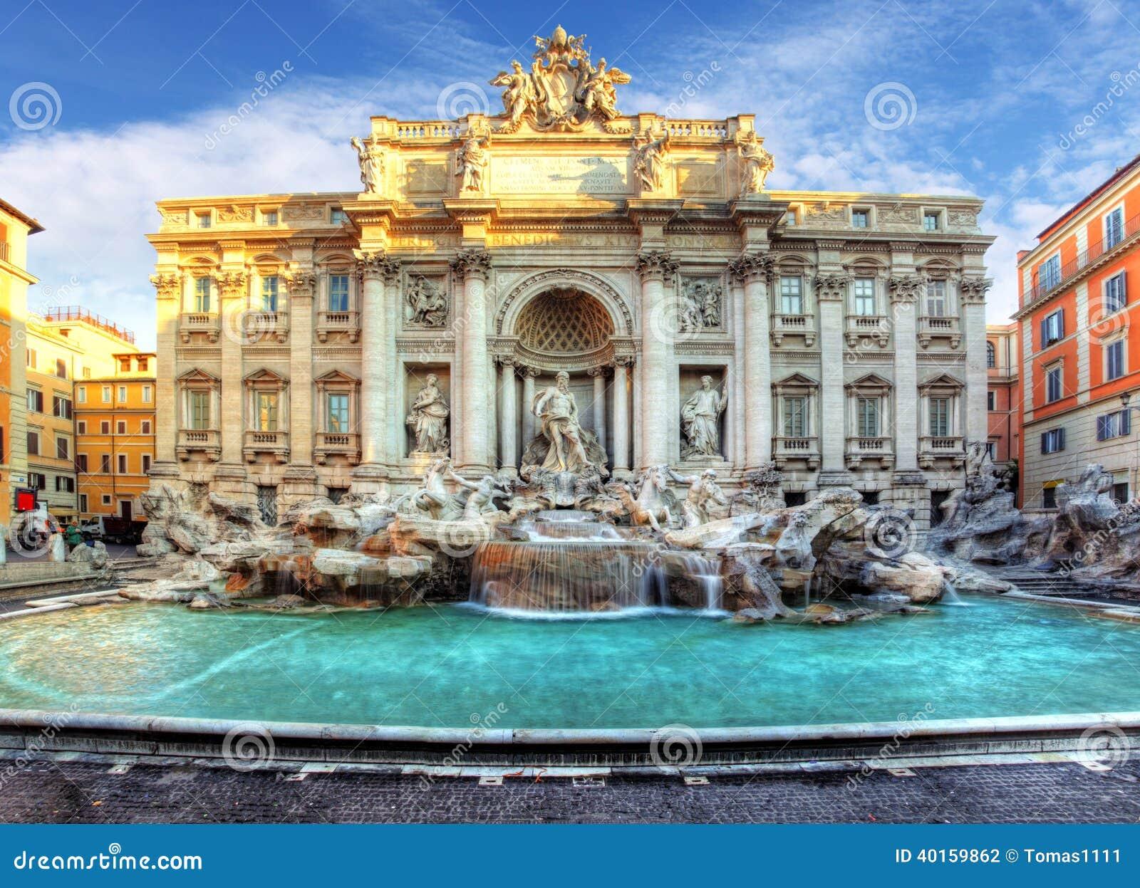 Fuente del Trevi, Roma, Italia.