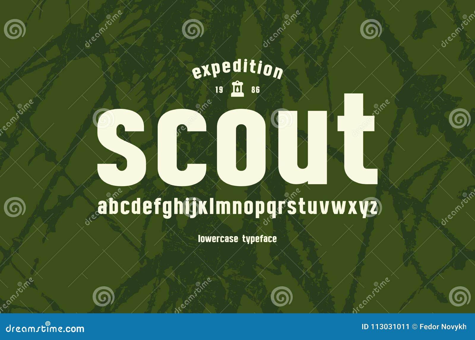 Fuente minúscula original de sans serif