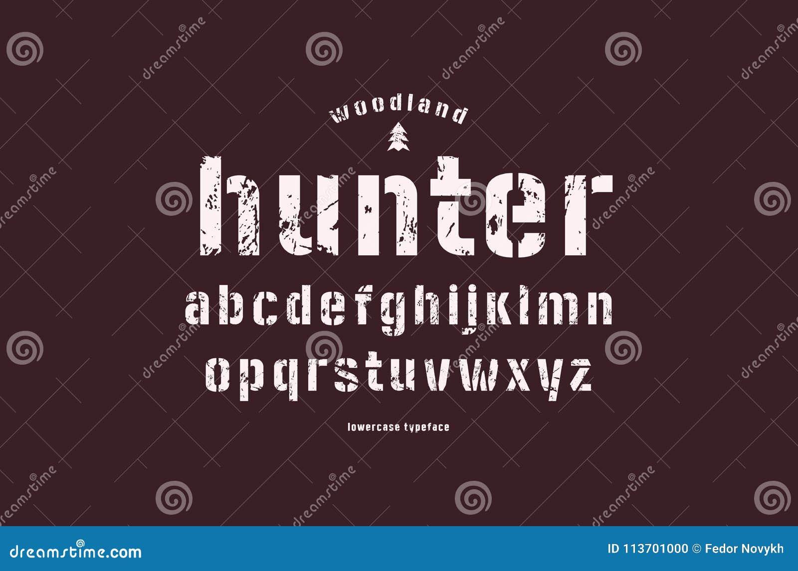 Fuente Minúscula Original De Sans Serif De La Plantilla-placa ...