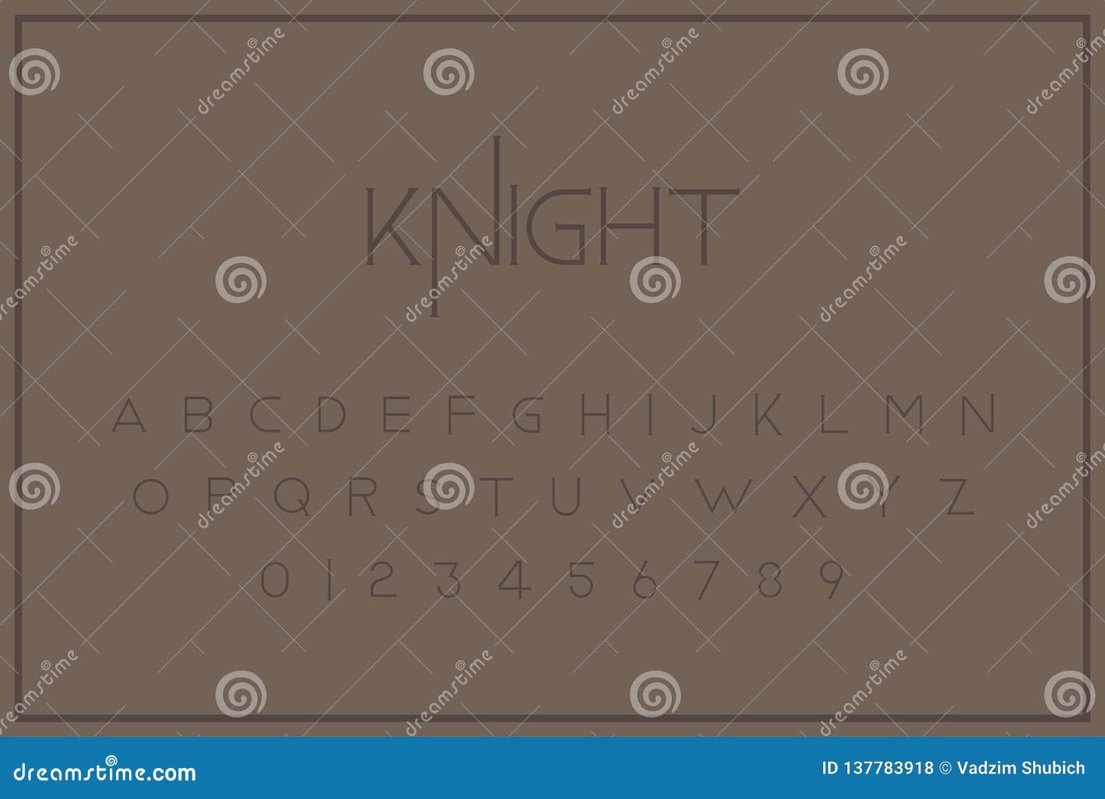 Fuente real del vintage original Un sistema de letras y de números en estilo retro Símbolos para la plantilla creativa del diseño