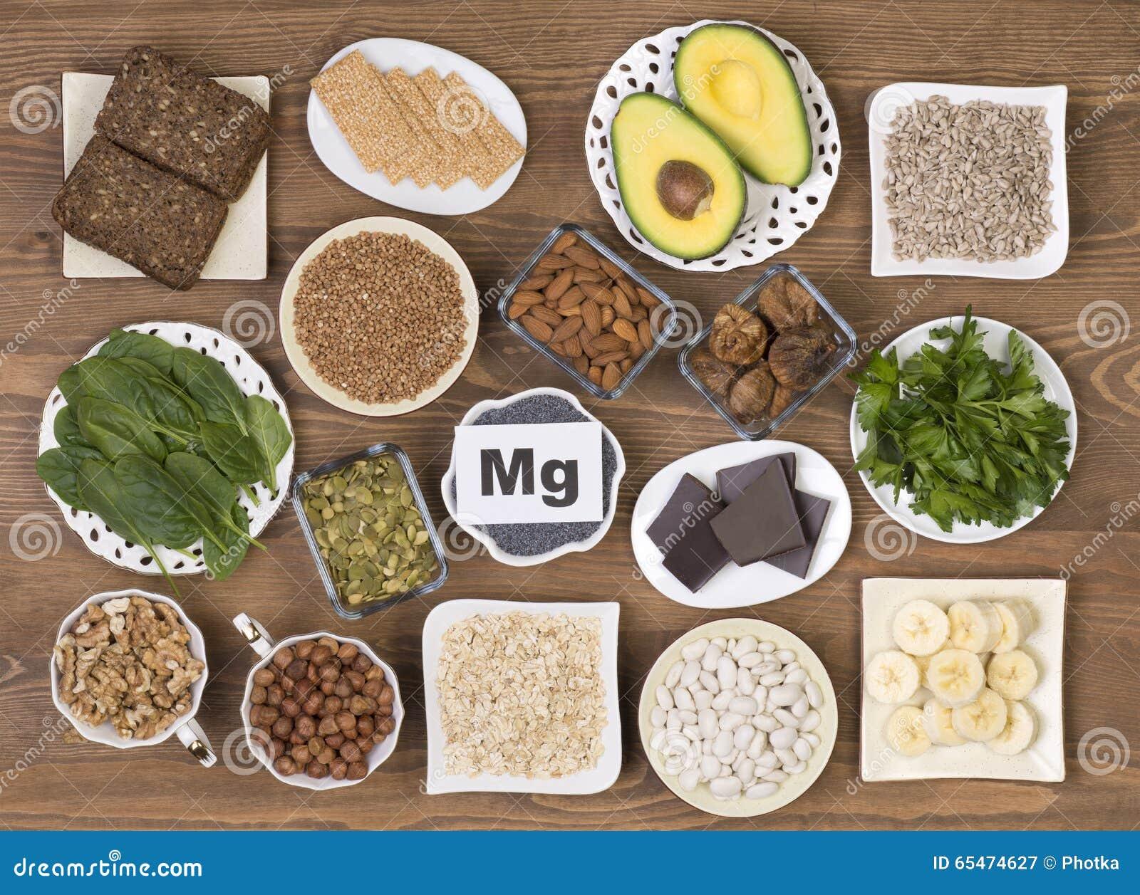 Fuentes de la comida de magnesio