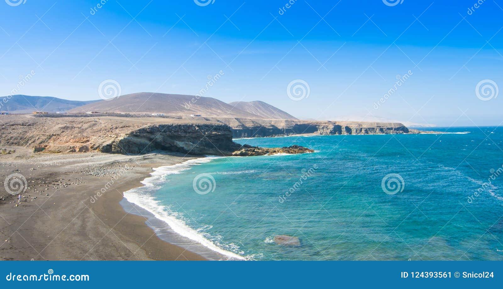 Fuerteventura, Ajuy-Strand in der Kanarischen Insel, Spanien