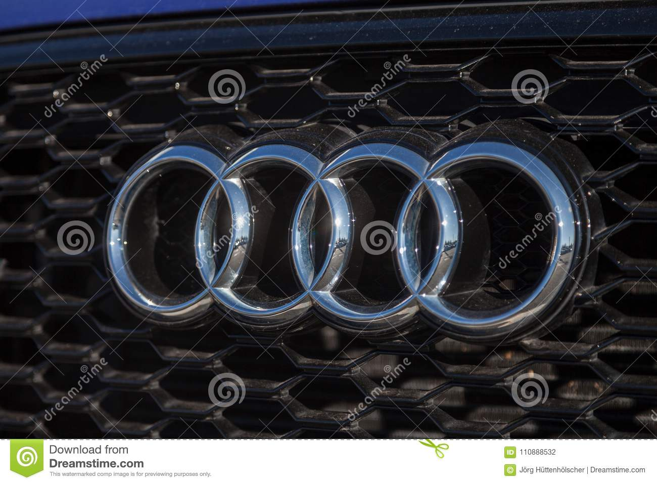 Audi Emblem On An Audi Car Editorial Photography Image Of Button - Audi car emblem