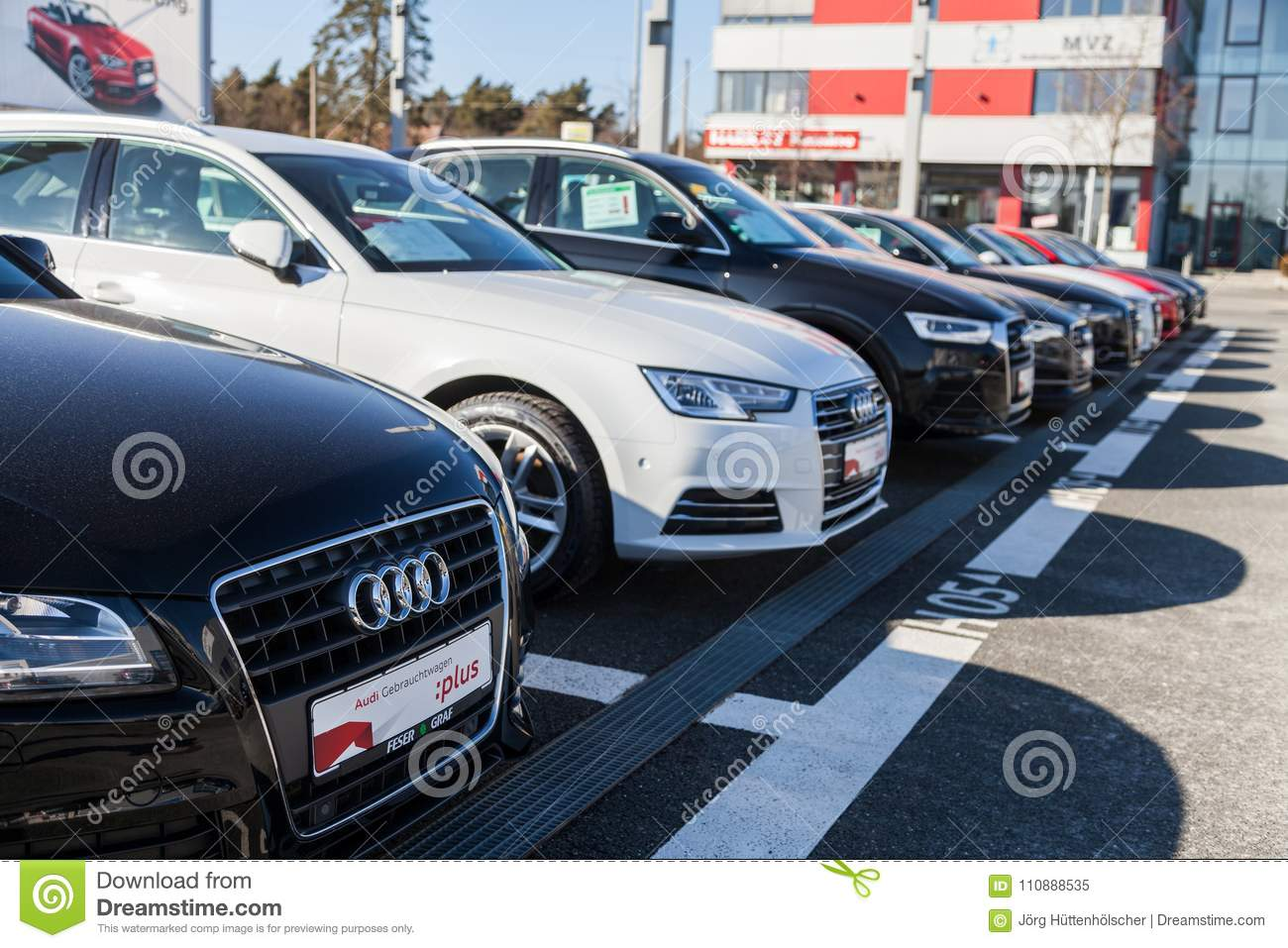 Audi Emblem On An Audi Car Editorial Image Image Of Engineers - Audi car emblem