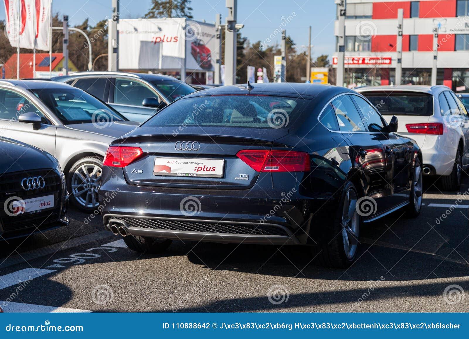 Audi Emblem On An Audi Car Editorial Photography Image Of Color