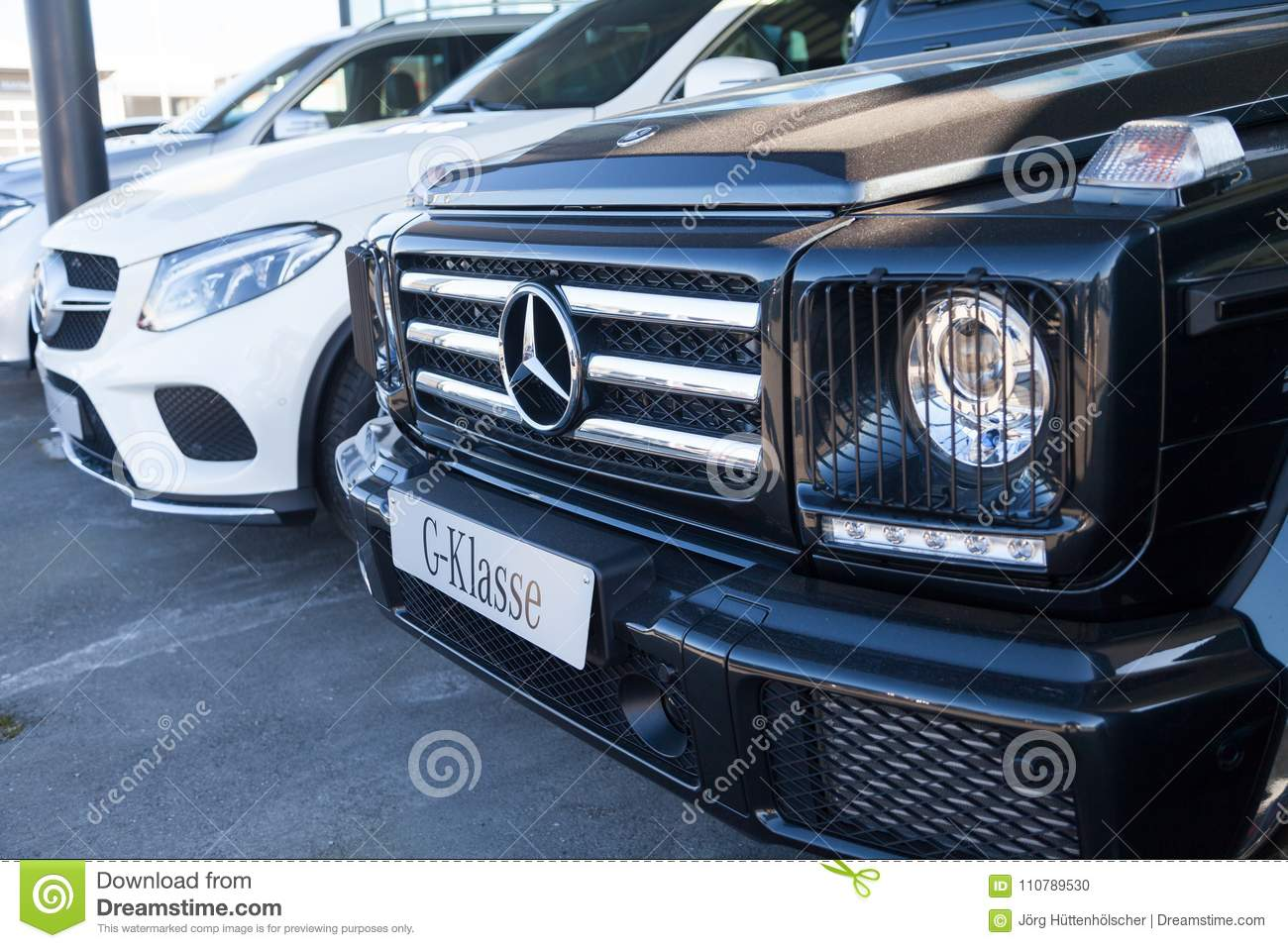 Mercedes Benz Symbol On A Car Editorial Image Image Of Fuerth