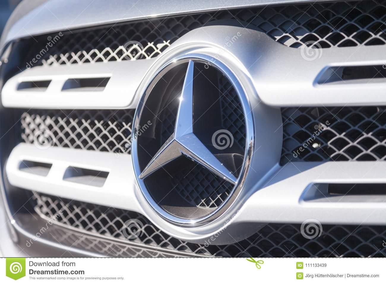 Mercedes Benz Symbol On A Car Editorial Stock Image Image Of