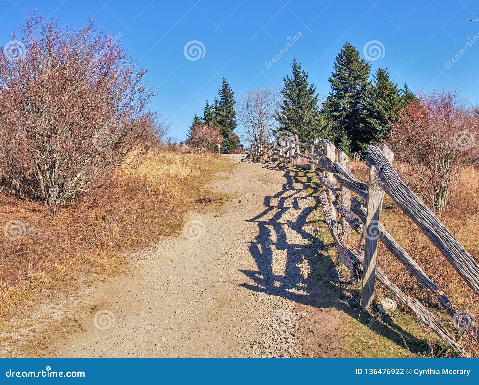 Fuga de Massie Gap em Grayson Highlands