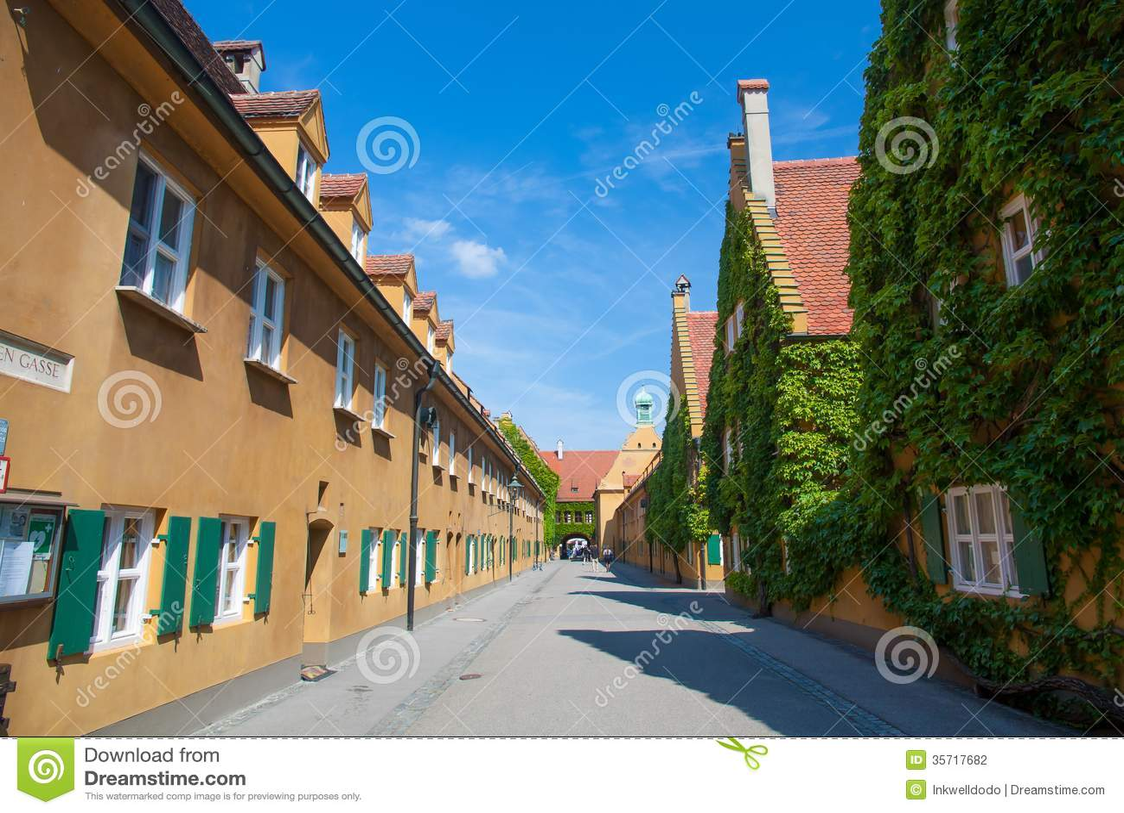 fuggerei augsburg deutschland stockfoto bild 35717682. Black Bedroom Furniture Sets. Home Design Ideas