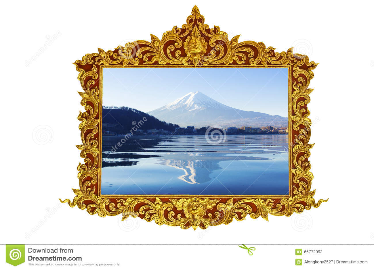 Gold frame in vintage style vector illustration for Small vintage style picture frames