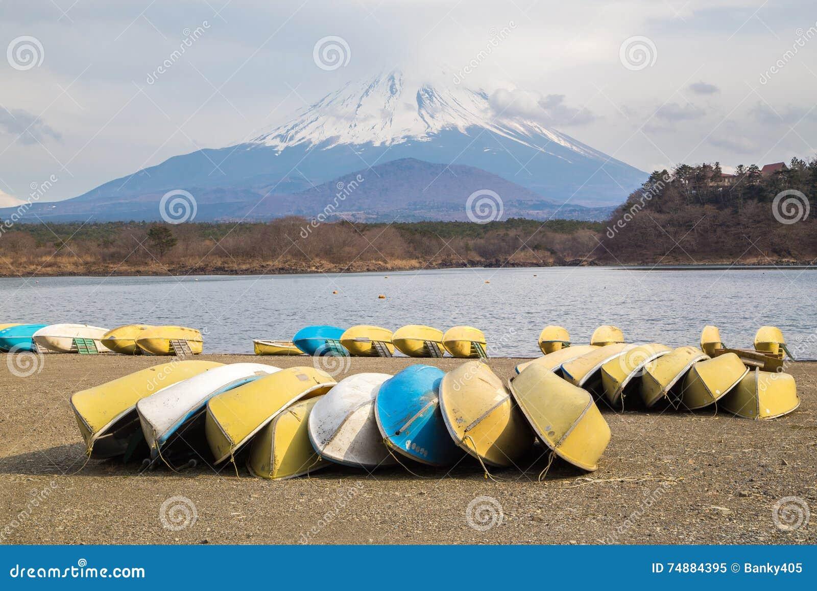 Fujisan e Shoji do lago
