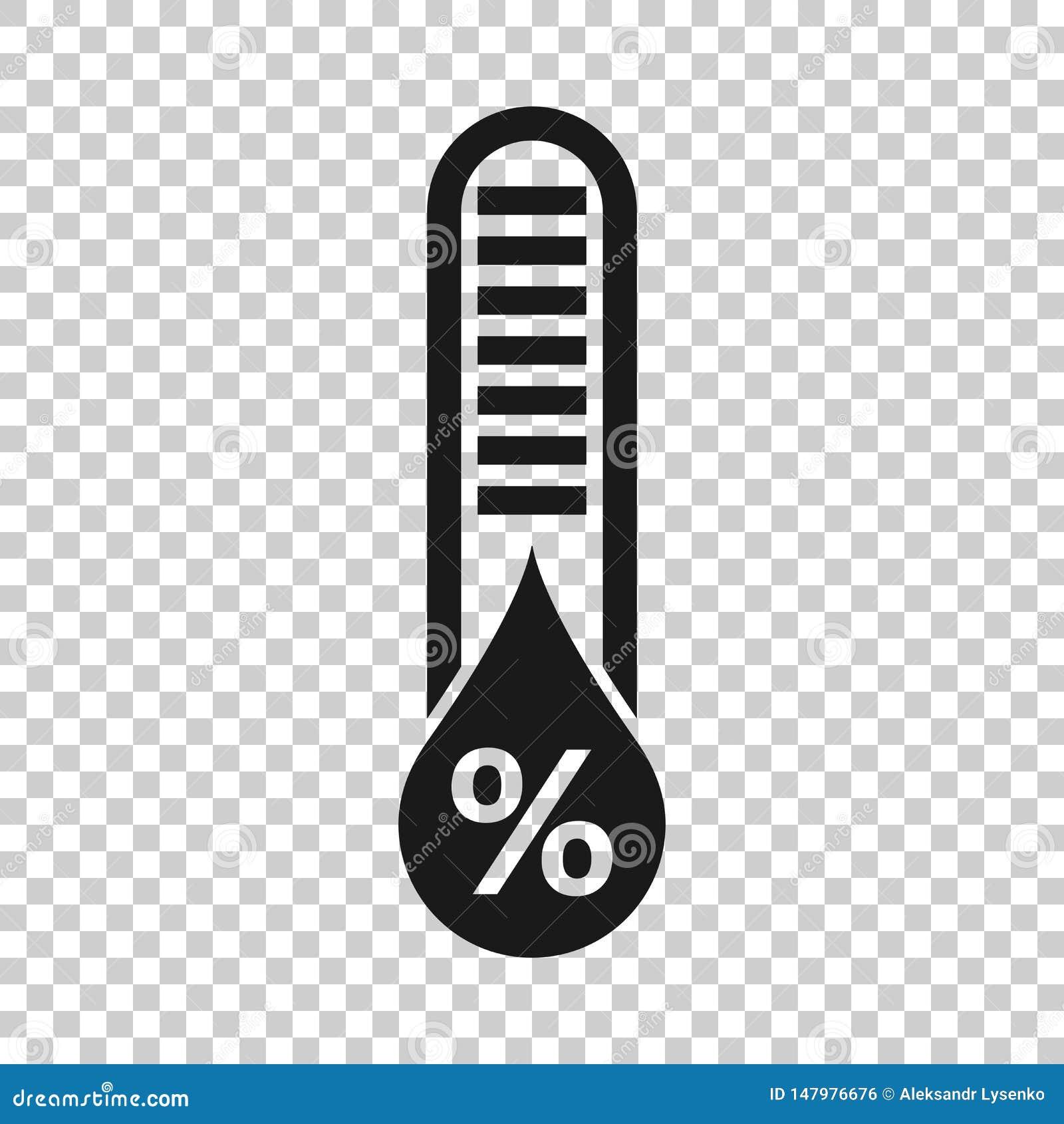 Fuktighetssymbol i genomskinlig stil Klimatvektorillustration p? isolerad bakgrund Temperaturprognosaff?rsid?