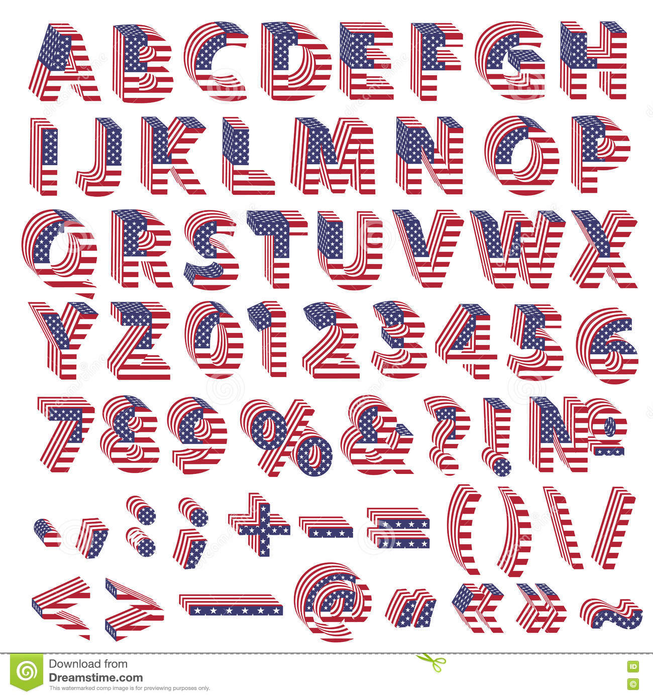 Full alphabet from usa flag letters stock illustration full alphabet from usa flag letters biocorpaavc Image collections