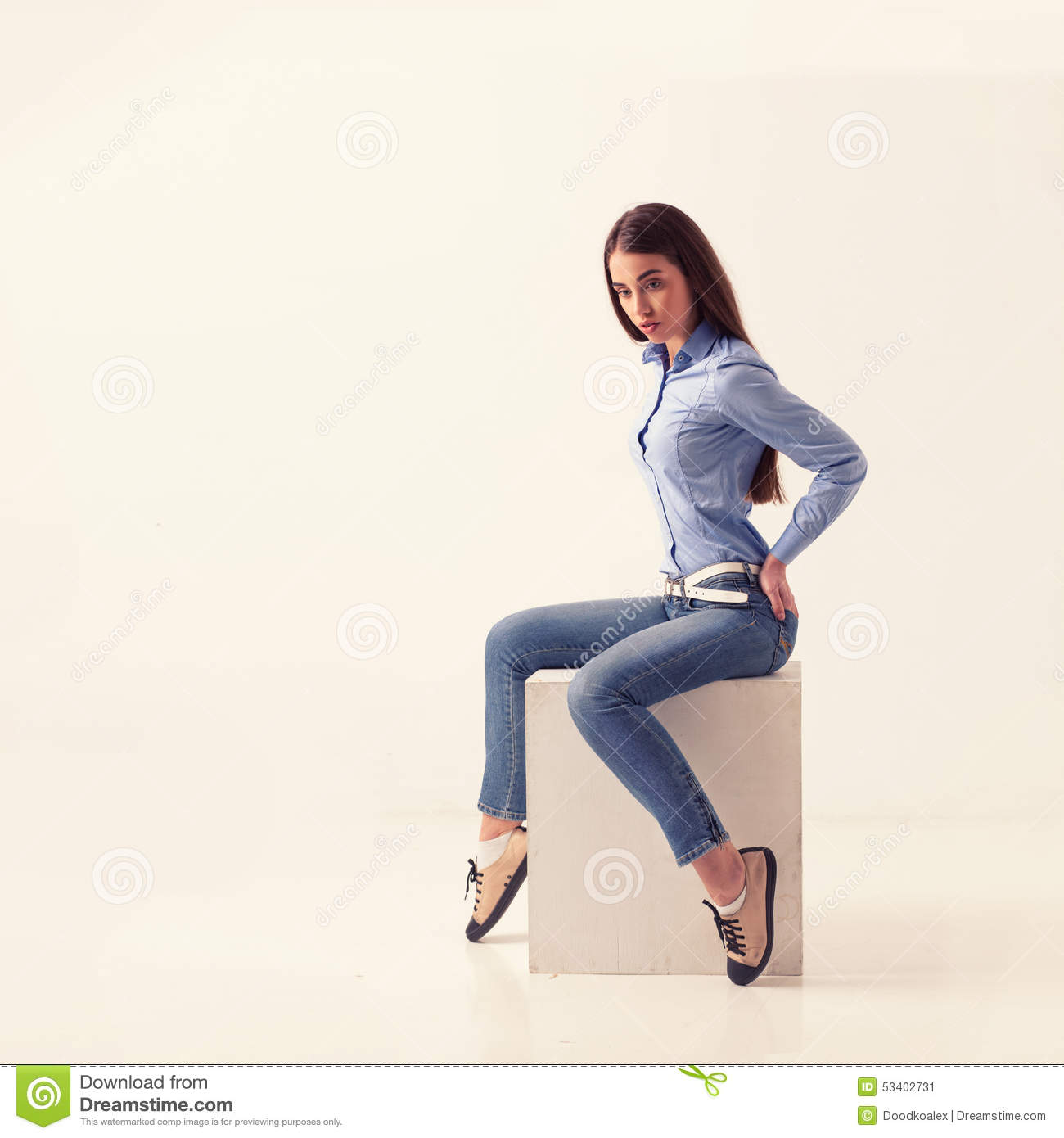 full body of cheerful beautiful business woman stock image
